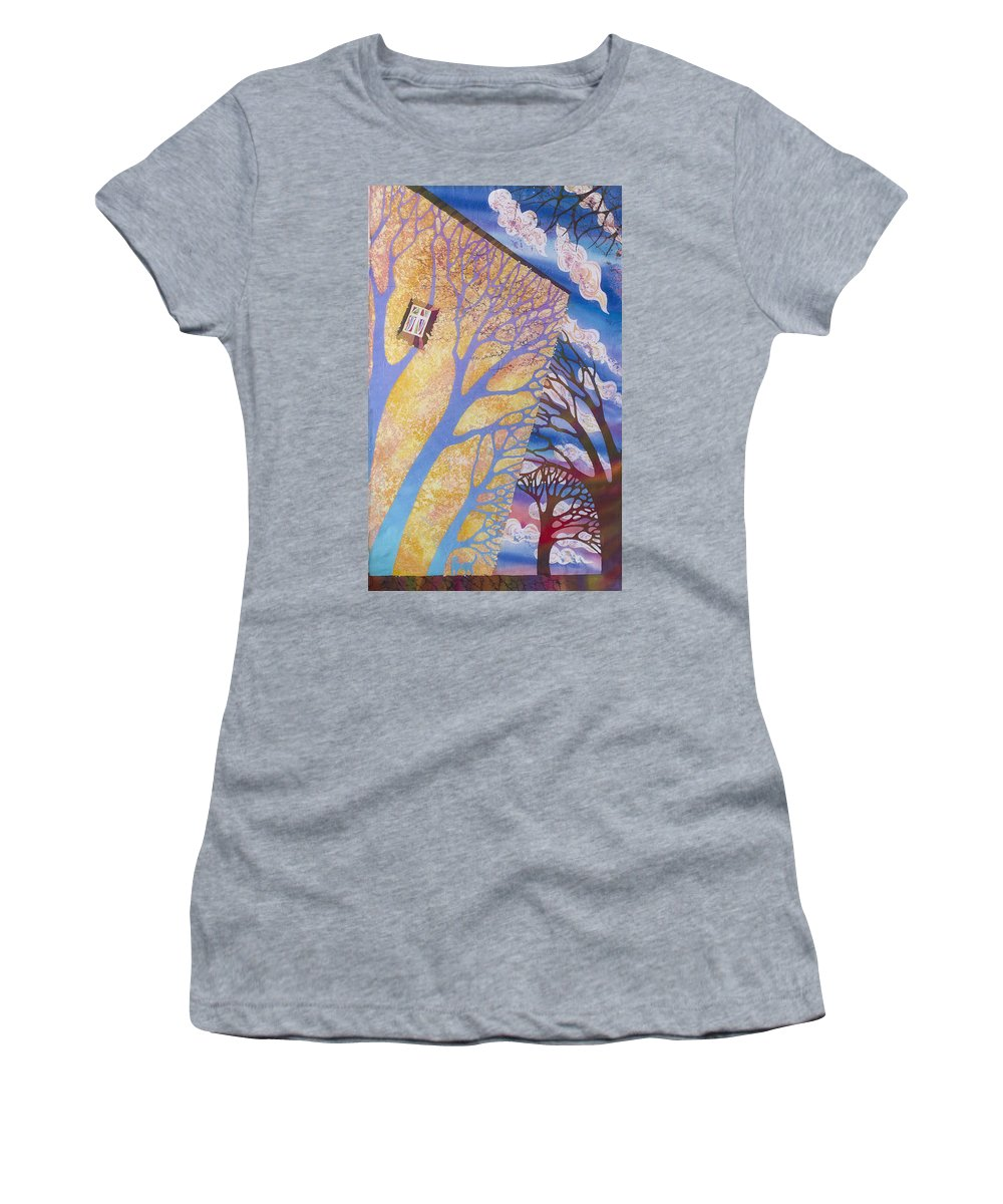 Spring Women's T-Shirt featuring the tapestry - textile Cat's Shadow by Kate Krivoshey