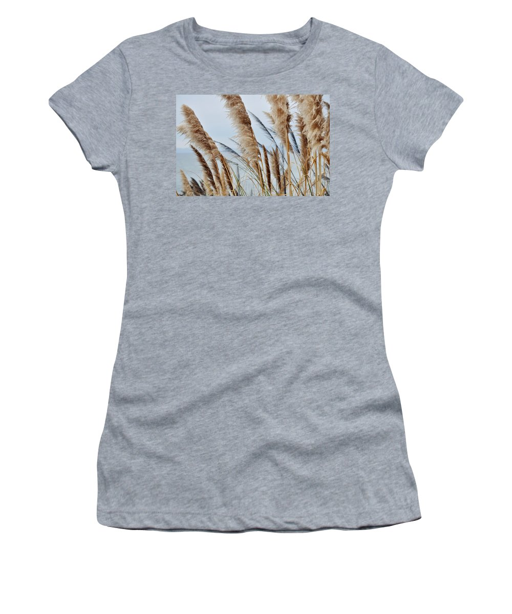 Pampas Grass Women's T-Shirt (Athletic Fit) featuring the photograph Central Coast Pampas Grass II by Kyle Hanson