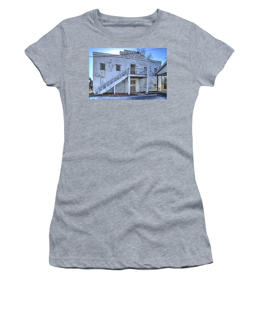 Old Women's T-Shirt featuring the photograph Chain Gang Barrack by Charles Hite