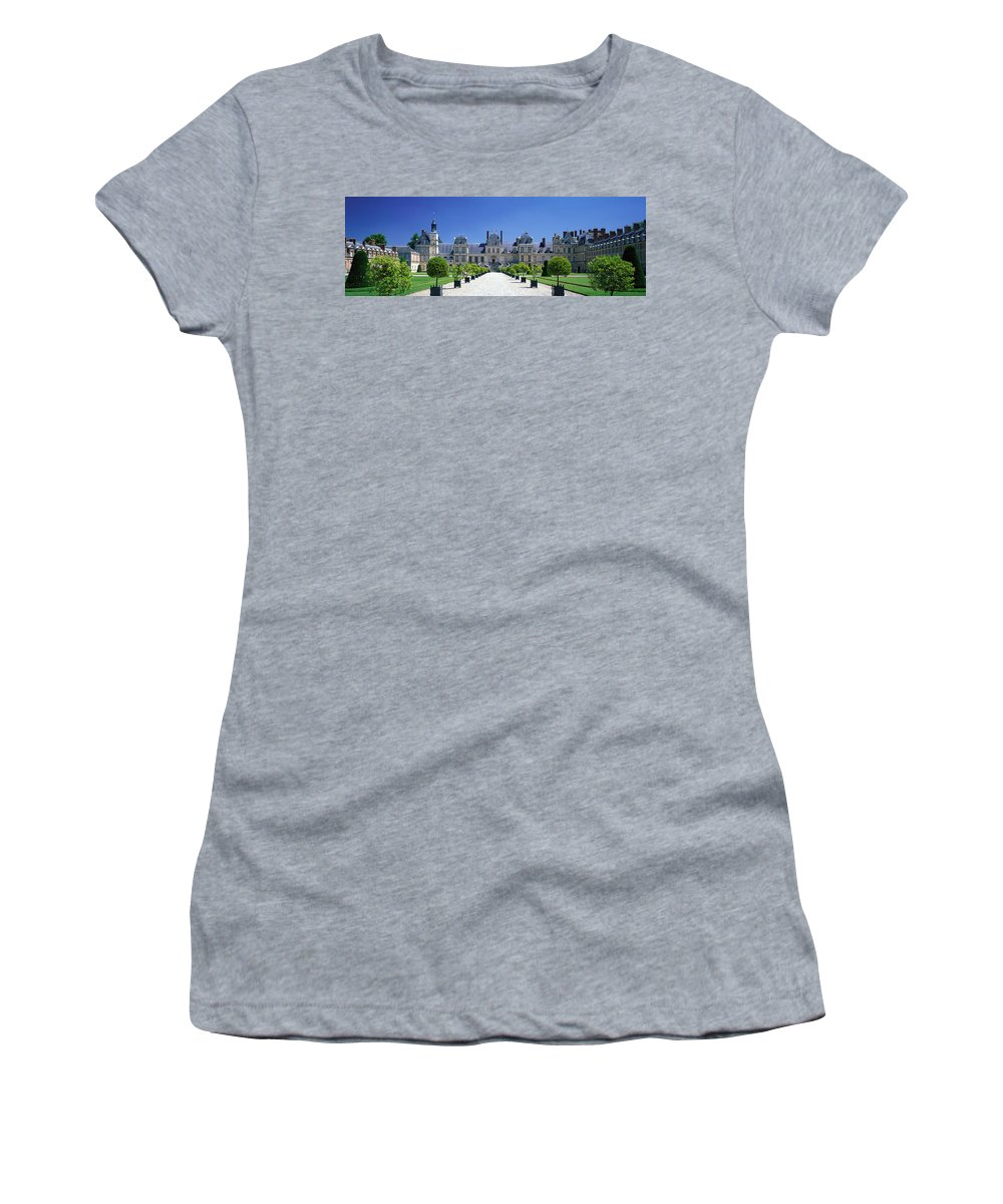 Photography Women's T-Shirt featuring the photograph Chateau De Fontainebleau Ile De France by Panoramic Images