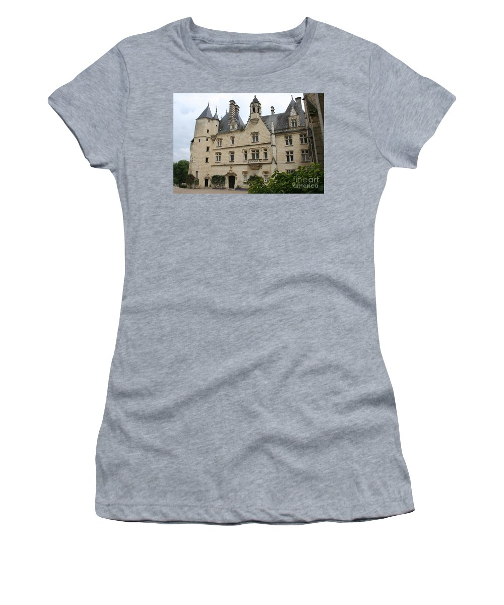 Palace Women's T-Shirt featuring the photograph Chateau Usse by Christiane Schulze Art And Photography