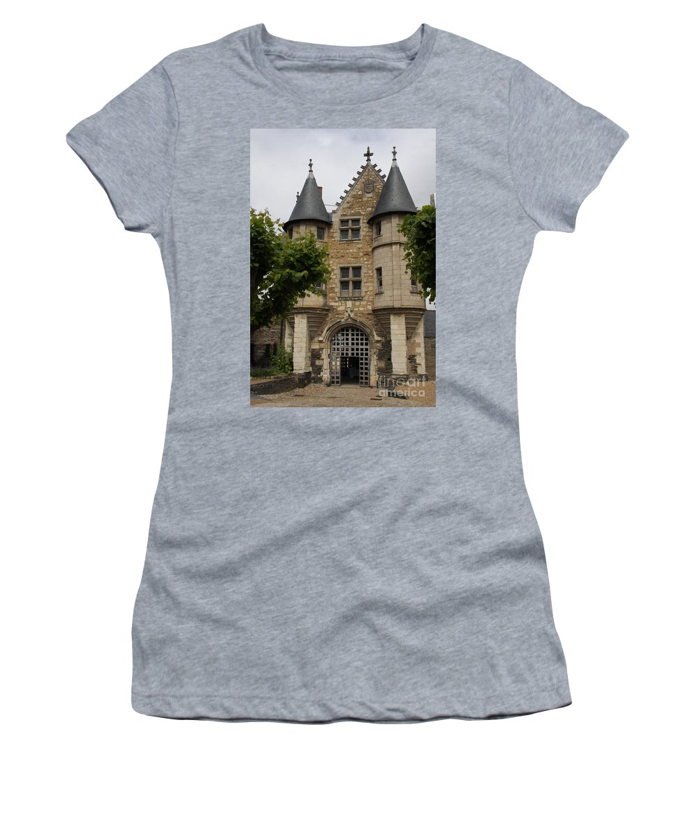 Castle Women's T-Shirt featuring the photograph Chatelet - Chateau D'angers by Christiane Schulze Art And Photography