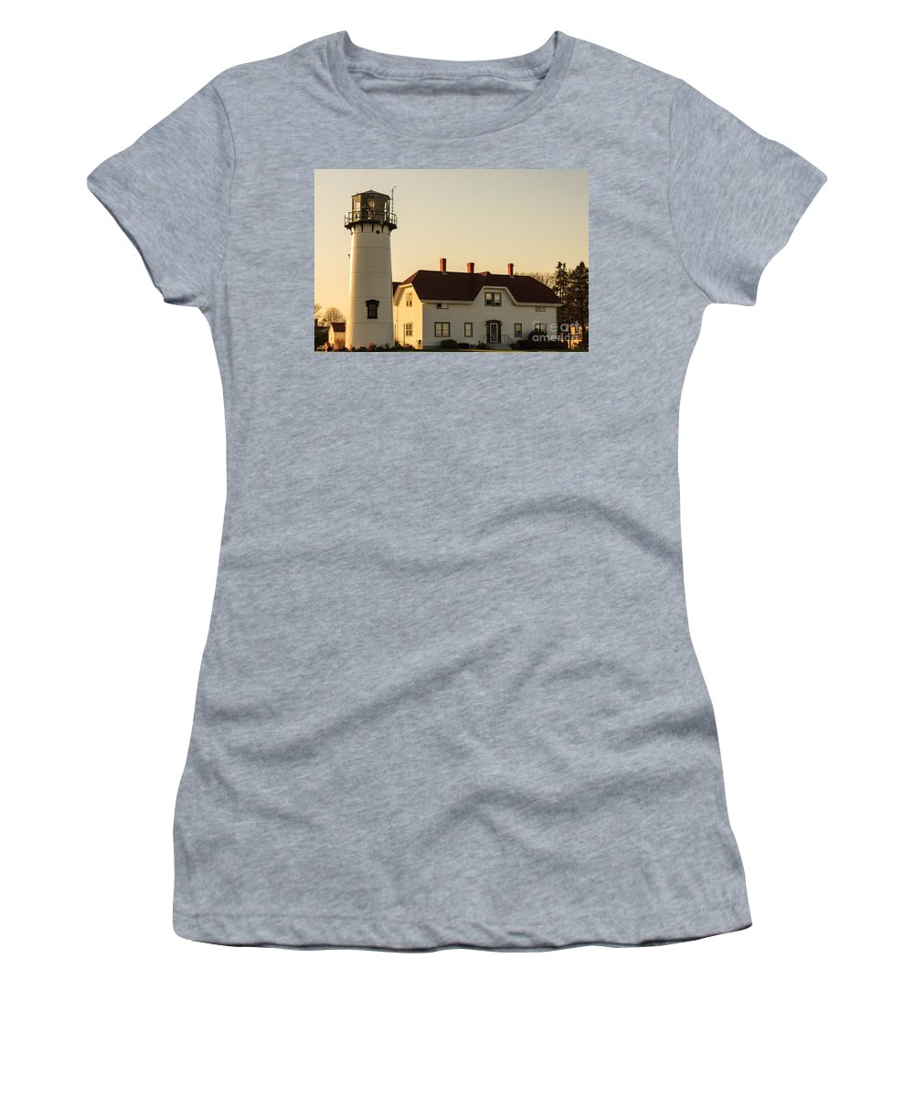 Chatham Light Women's T-Shirt featuring the photograph Chatham Lighthouse by Terri Morris