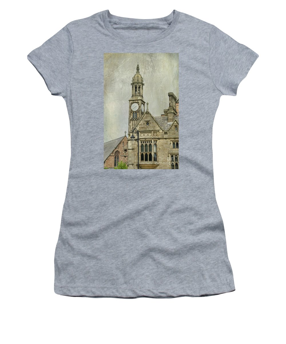 Architecture Women's T-Shirt featuring the photograph Chester England by Juli Scalzi