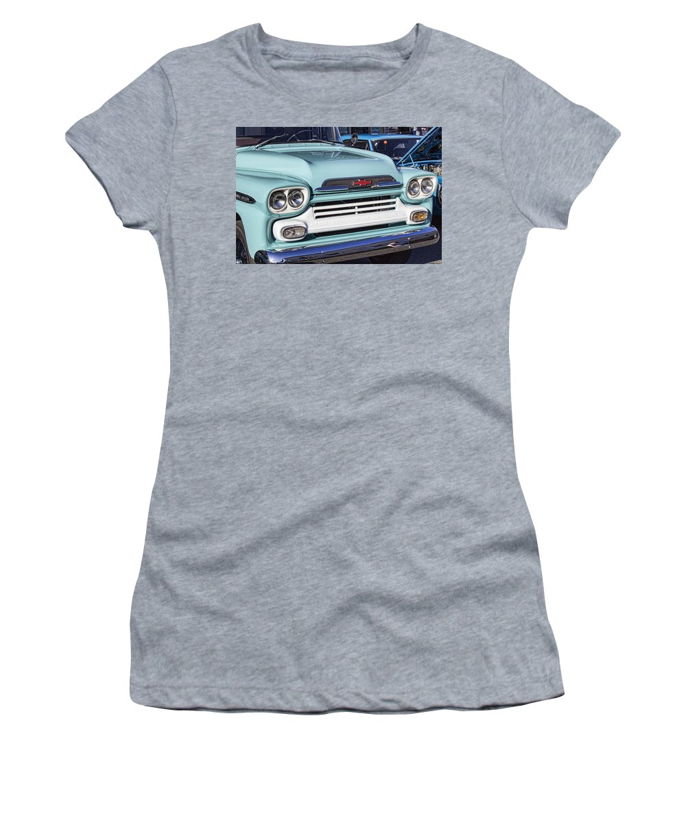 Chevy Truck Women's T-Shirt featuring the photograph Chevy Truck by Cathy Anderson