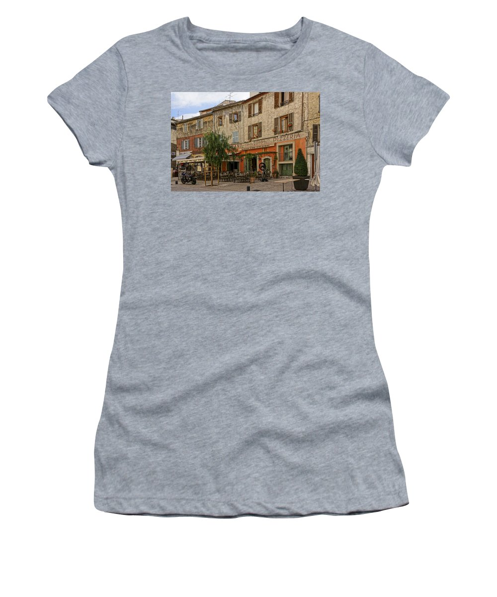 St Remey Women's T-Shirt (Athletic Fit) featuring the photograph Chez Luigi St Remey France Dsc02408 by Greg Kluempers