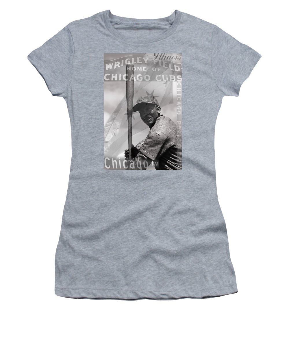 Chicago Sport Women's T-Shirt (Athletic Fit) featuring the photograph Chicago Montage by Jacqueline Moore