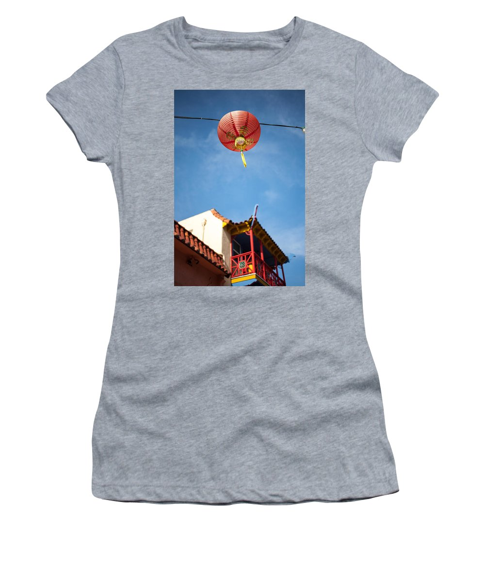 Buildings Women's T-Shirt featuring the photograph Chinese Lantern by Peter Tellone