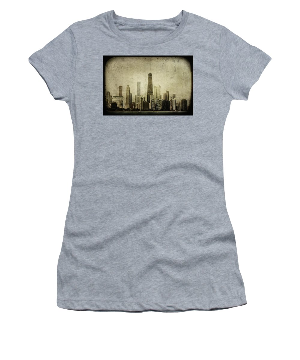 Chicago Women's T-Shirt featuring the photograph Chitown by Andrew Paranavitana