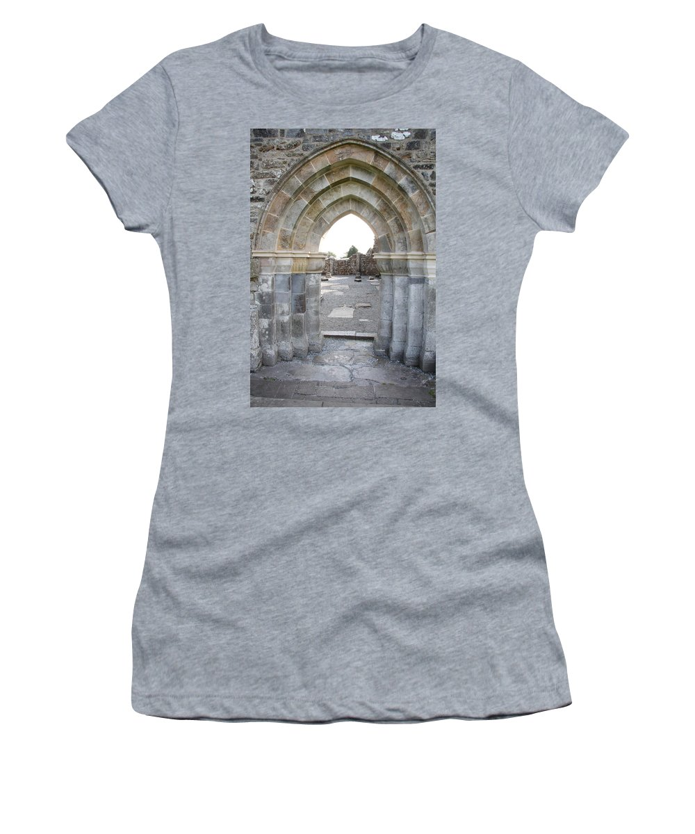 Church Women's T-Shirt (Athletic Fit) featuring the photograph Church Portal by Christiane Schulze Art And Photography