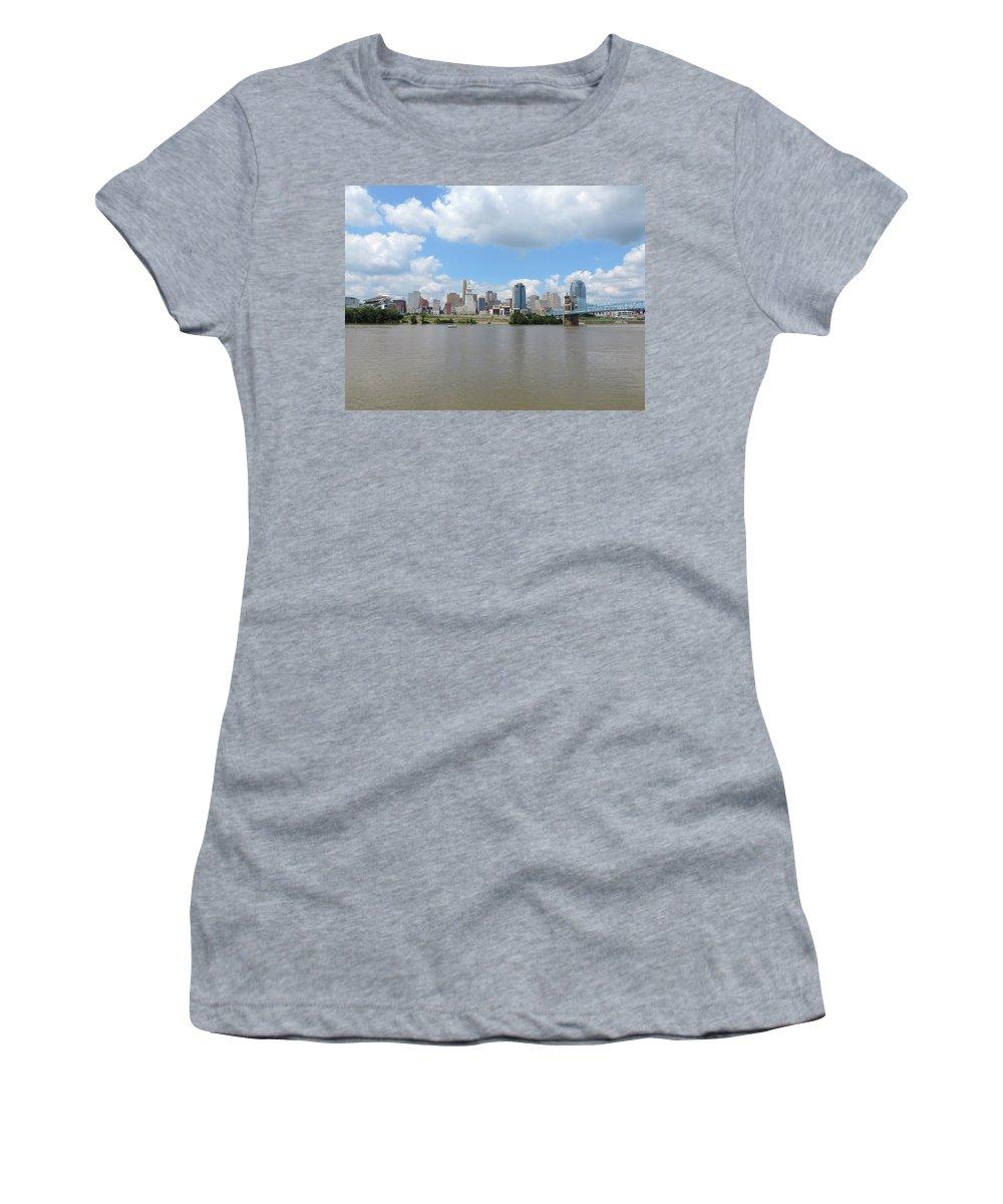 City Women's T-Shirt featuring the photograph Cincinnati Skyline by Cityscape Photography