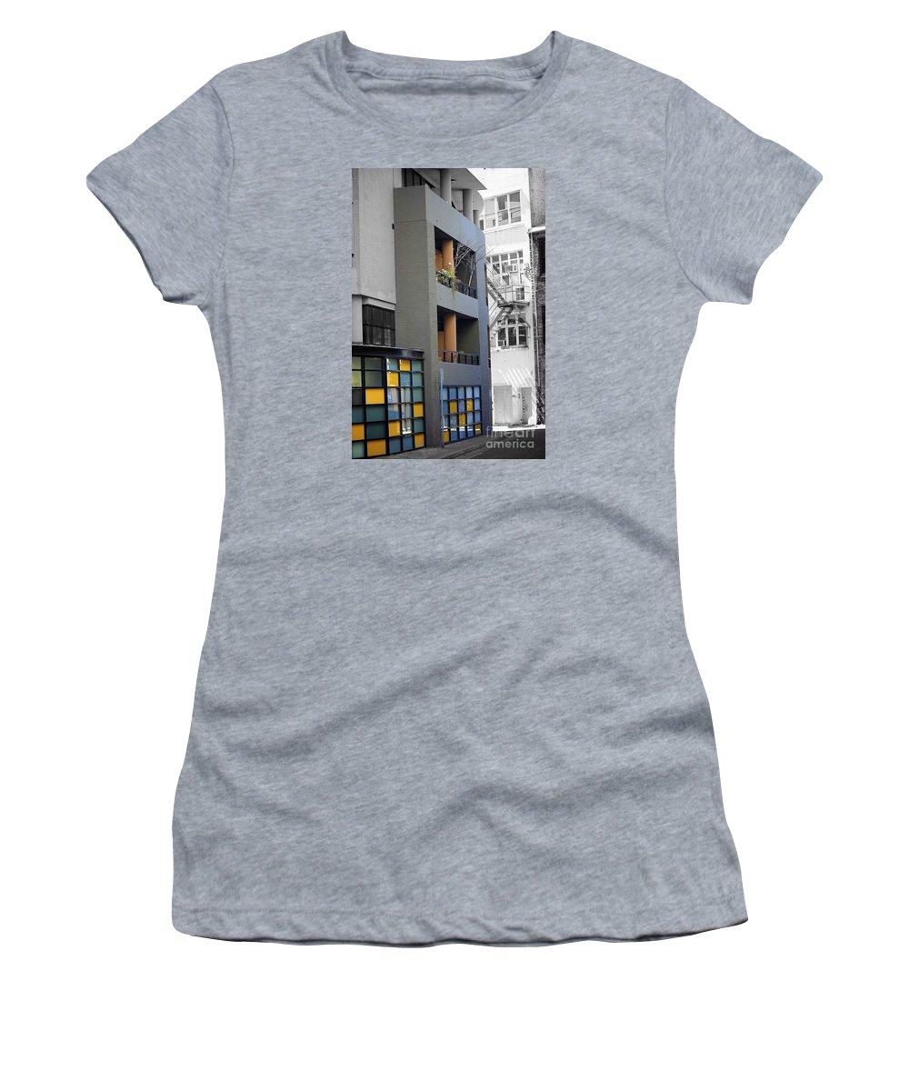 Building Women's T-Shirt featuring the photograph City Art by Alanna DPhoto