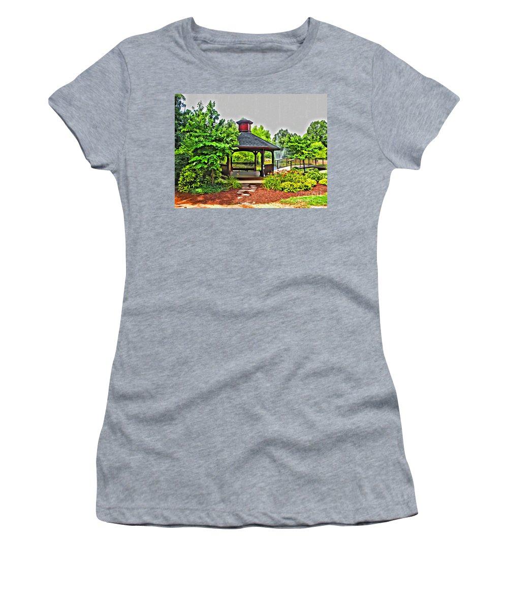 City Women's T-Shirt (Athletic Fit) featuring the photograph City Park by Scott Hervieux