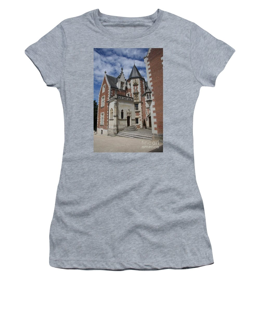 Leonardo Da Vinci Women's T-Shirt (Athletic Fit) featuring the photograph Clos Luce - Amboise - France by Christiane Schulze Art And Photography