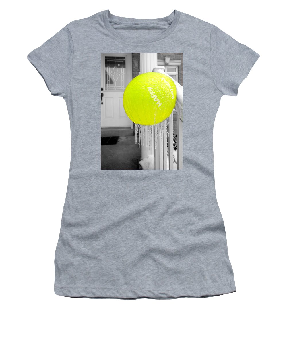 Ice Women's T-Shirt featuring the photograph Cold Birthday by Valentino Visentini