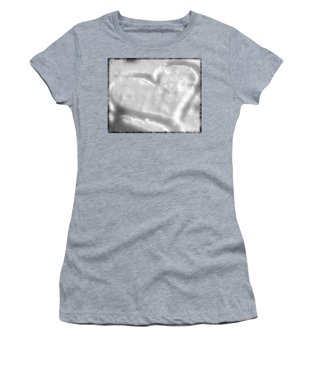 Heart Shape Women's T-Shirt (Athletic Fit) featuring the photograph Cold Hearted by Sennie Pierson
