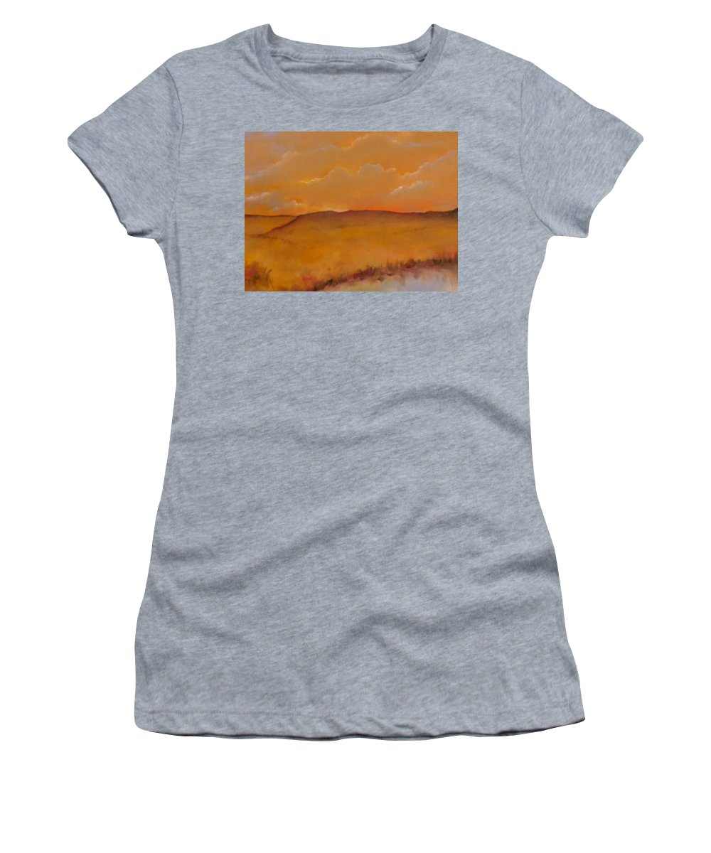 Colorado Women's T-Shirt (Athletic Fit) featuring the painting Colorado by Lord Frederick Lyle Morris - Disabled Veteran