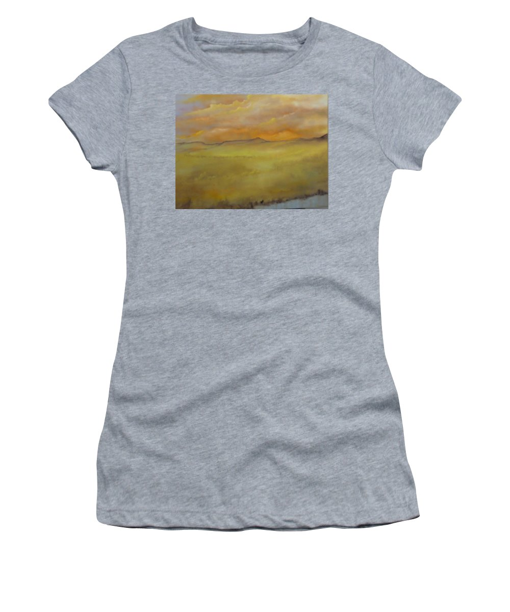 Von Thrauthemburg Women's T-Shirt (Athletic Fit) featuring the painting Colorado Summer by Lord Frederick Lyle Morris - Disabled Veteran