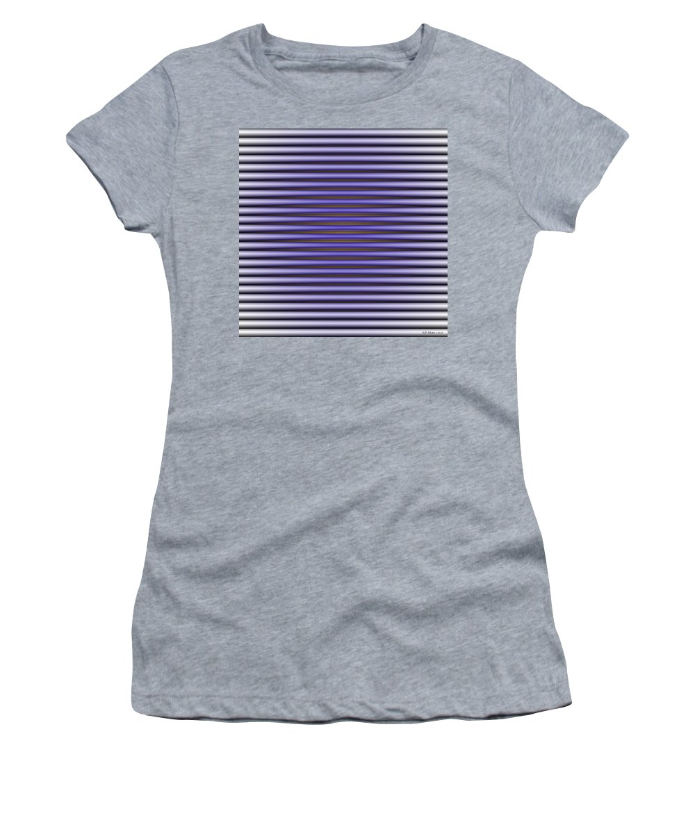Op Art Women's T-Shirt featuring the digital art Containment by WB Johnston