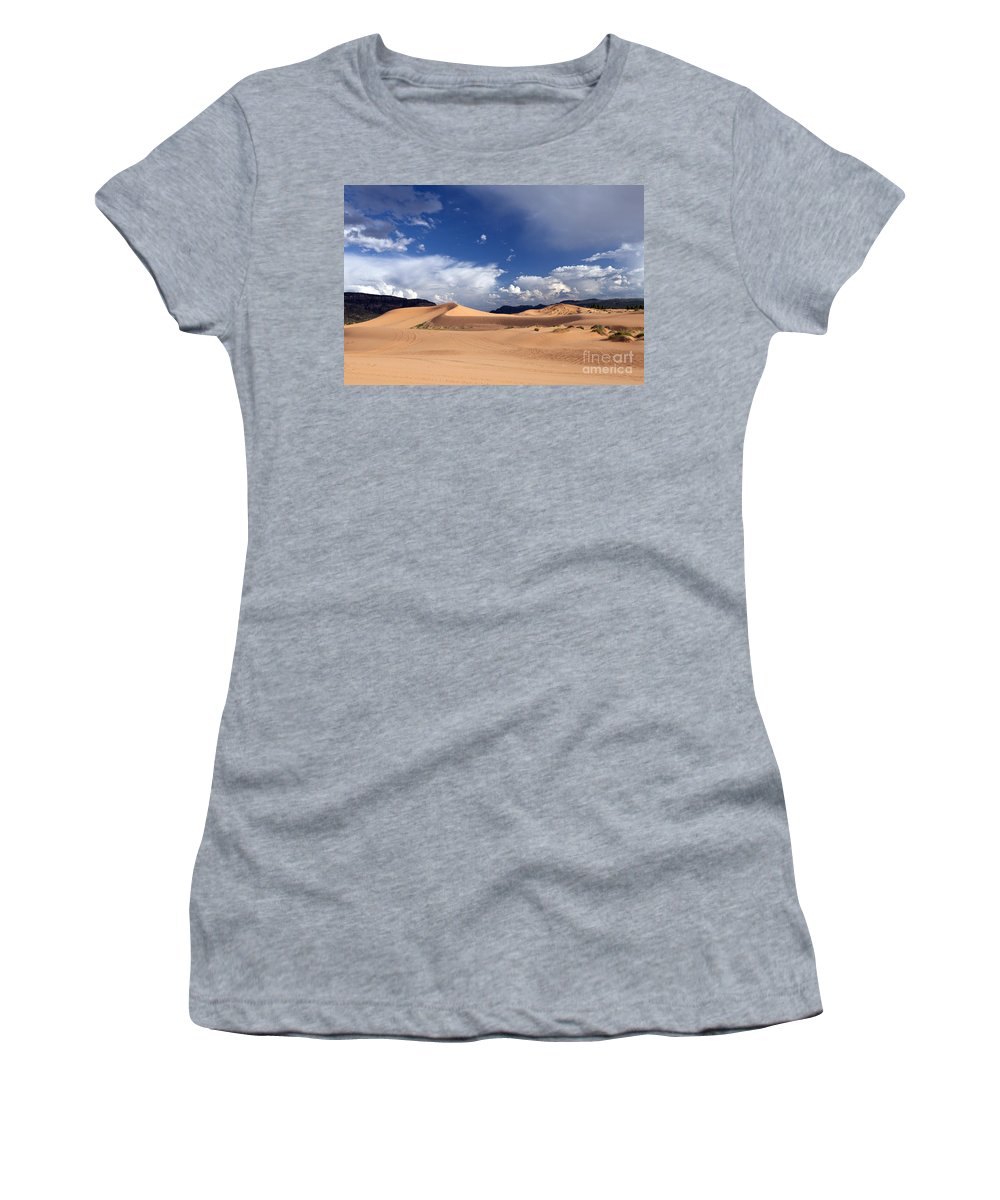Dune Women's T-Shirt featuring the photograph Coral Pink Sand Dunes by Rick Pisio
