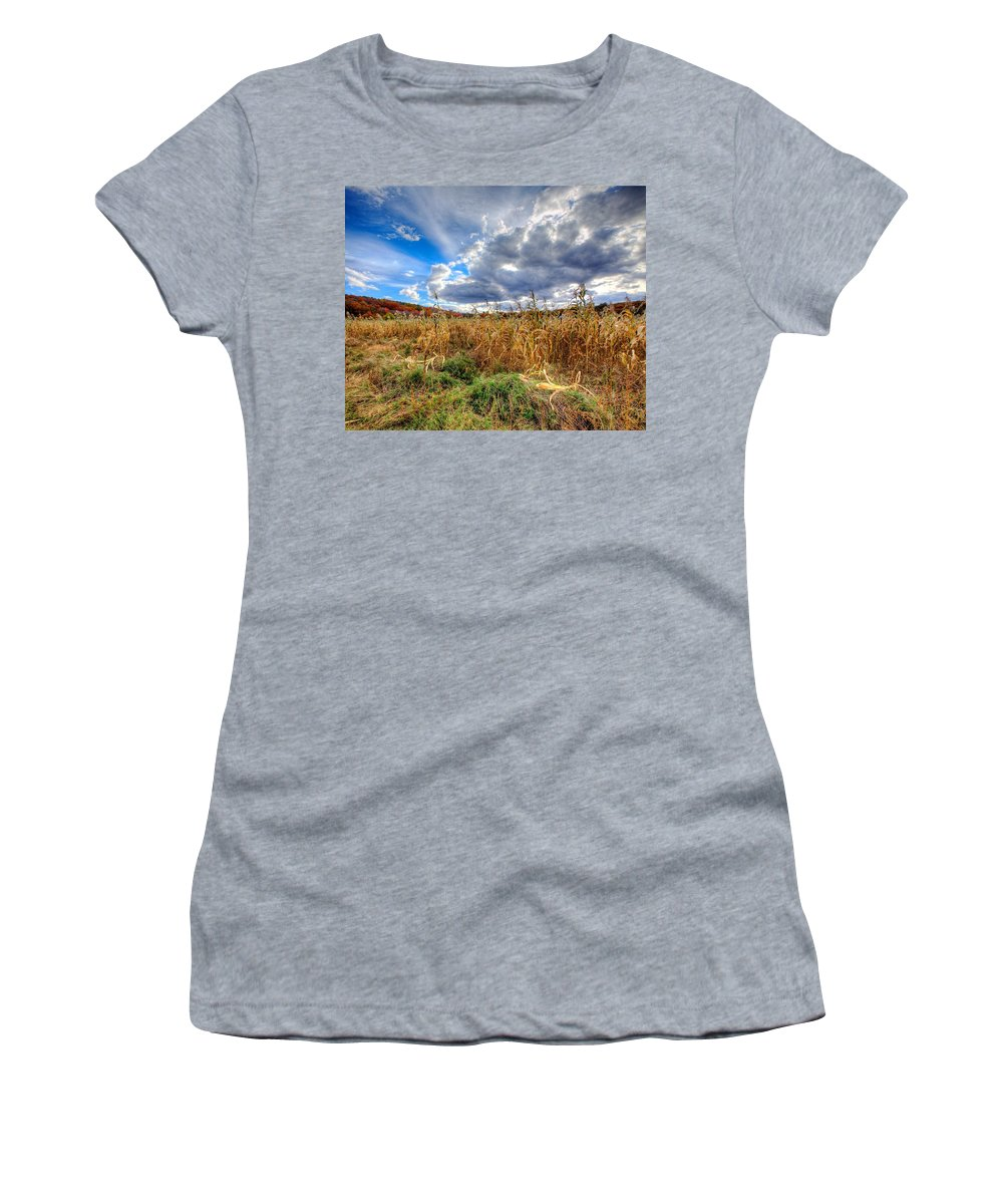 Corn Field Women's T-Shirt featuring the photograph Corn Field by Stas Burdan
