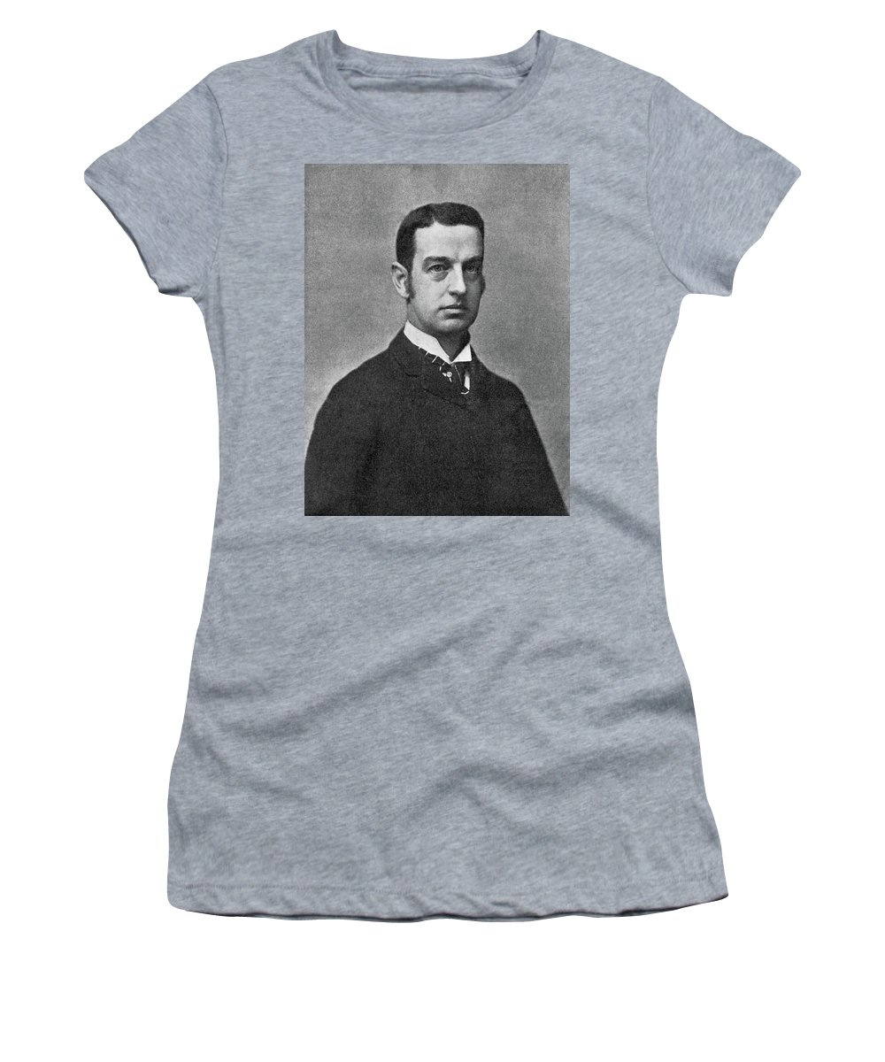 1899 Women's T-Shirt (Athletic Fit) featuring the photograph Cornelius Vanderbilt II (1843-1899) by Granger