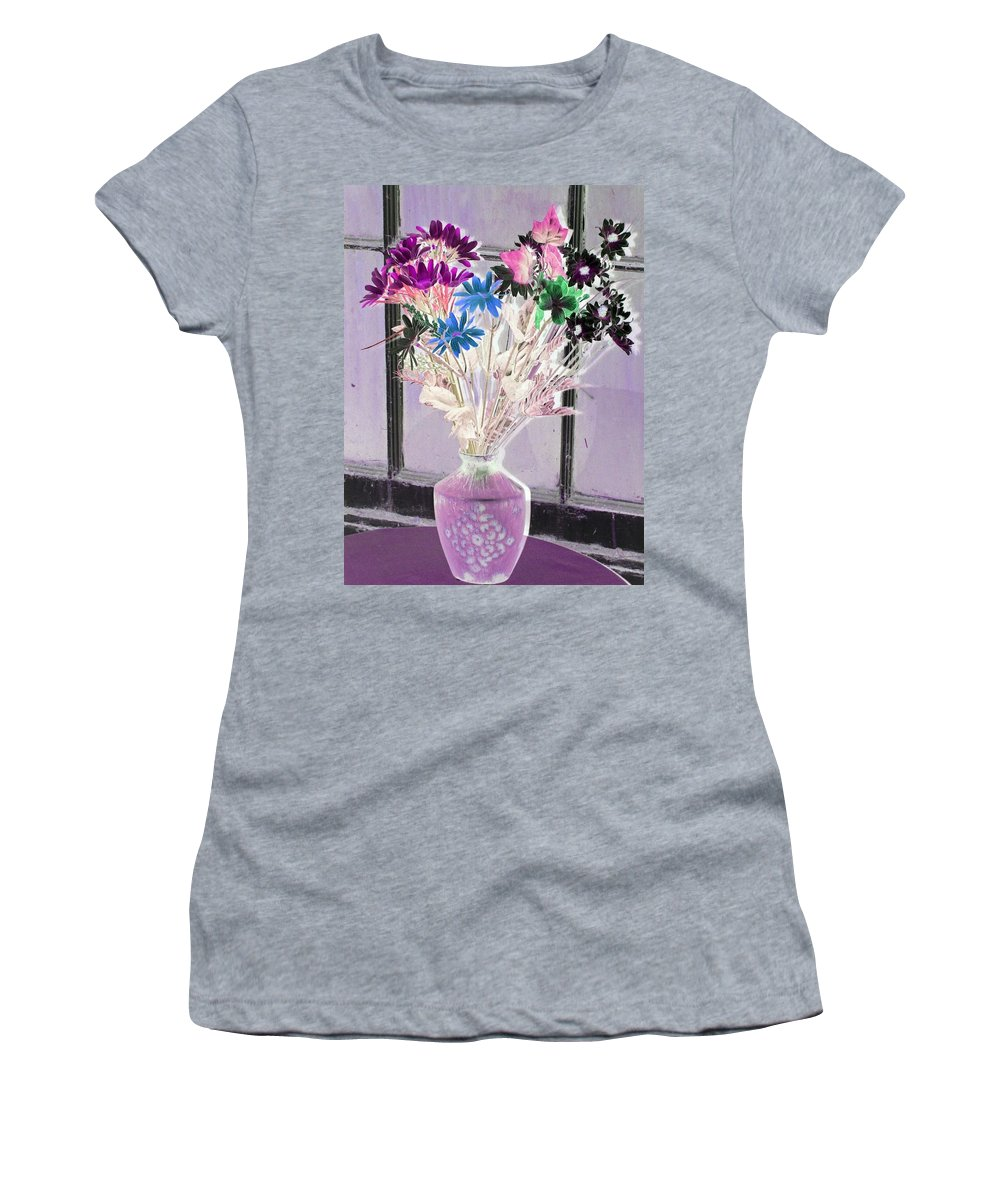 Flower Women's T-Shirt (Athletic Fit) featuring the photograph Country Comfort - Photopower 455 by Pamela Critchlow