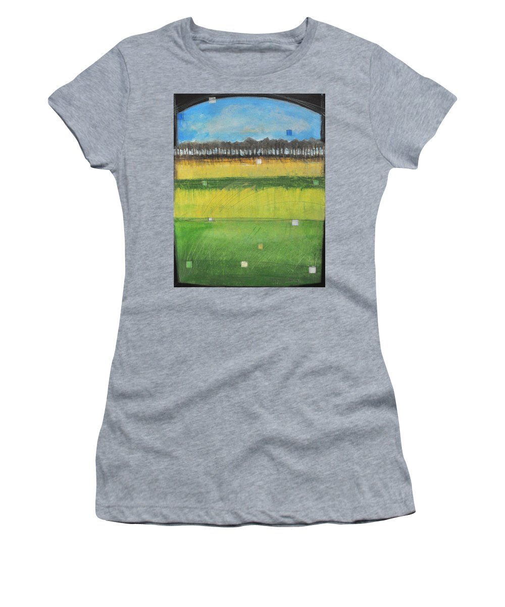 Landscape Women's T-Shirt featuring the painting County S by Tim Nyberg