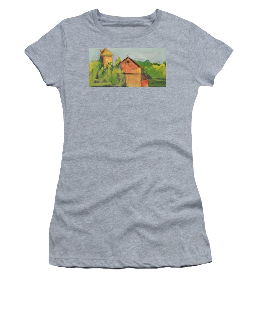 Barn Women's T-Shirt (Athletic Fit) featuring the painting County Tt by Tim Nyberg