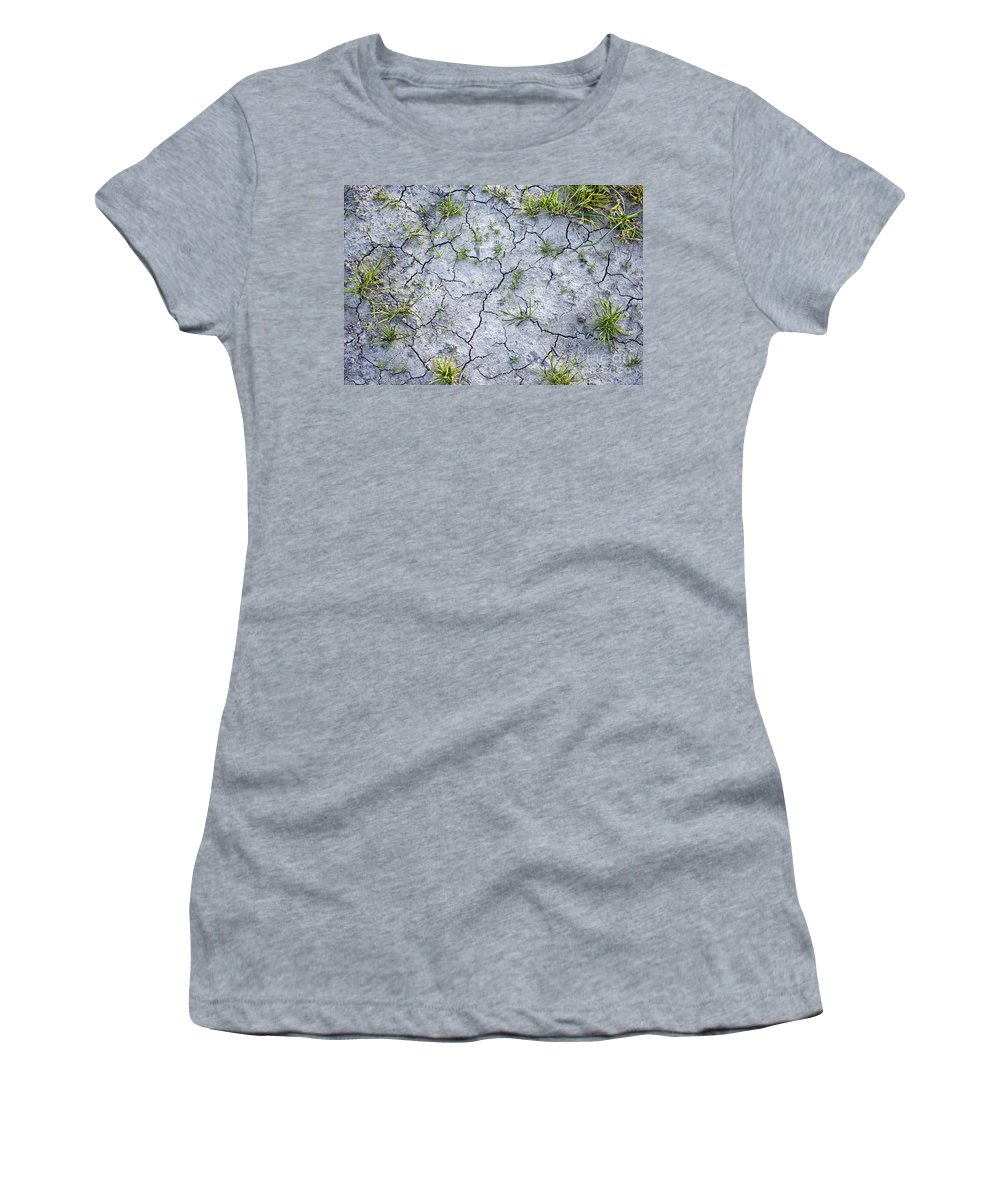 Hope Women's T-Shirt (Athletic Fit) featuring the photograph Cracked Earth Background by Antony McAulay