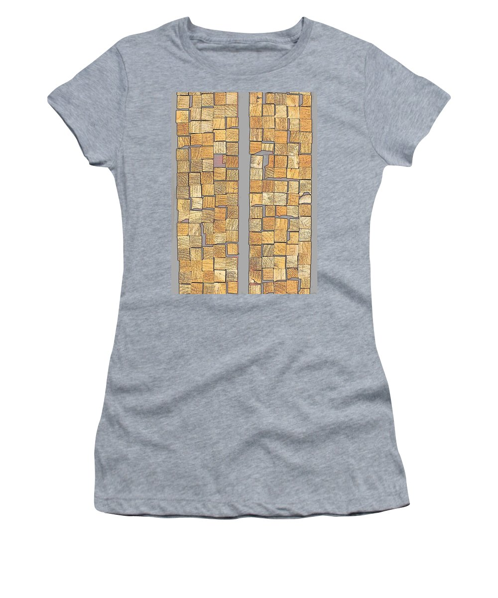 Hopper Women's T-Shirt featuring the photograph Crazy Paving by Guy Pettingell