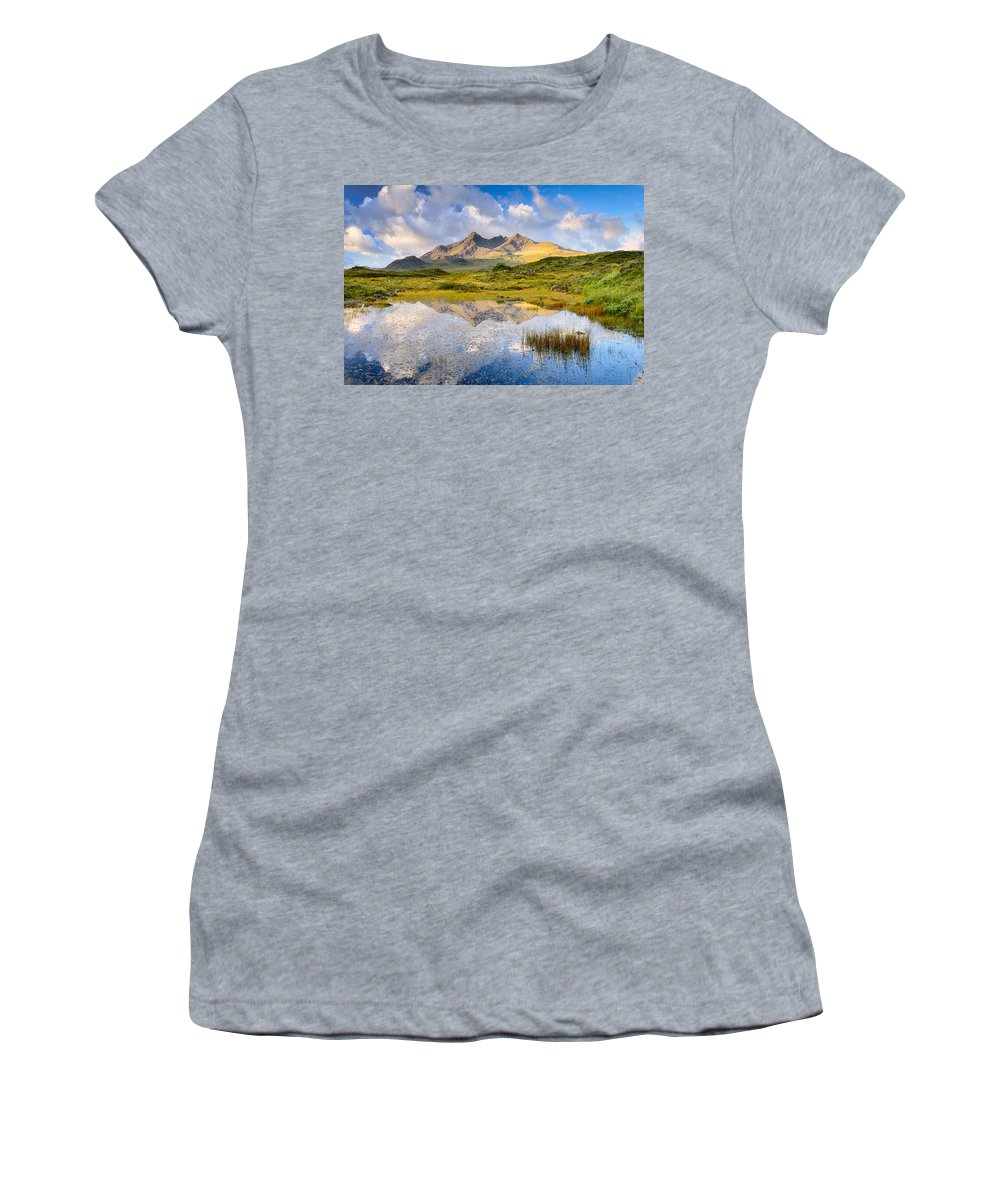 Cuillin Women's T-Shirt featuring the photograph Cuillin Reflection by Michael Blanchette