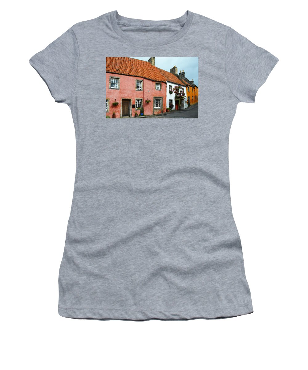 Scotland Women's T-Shirt (Athletic Fit) featuring the photograph Culross Sketches 5. Scotland by Jenny Rainbow