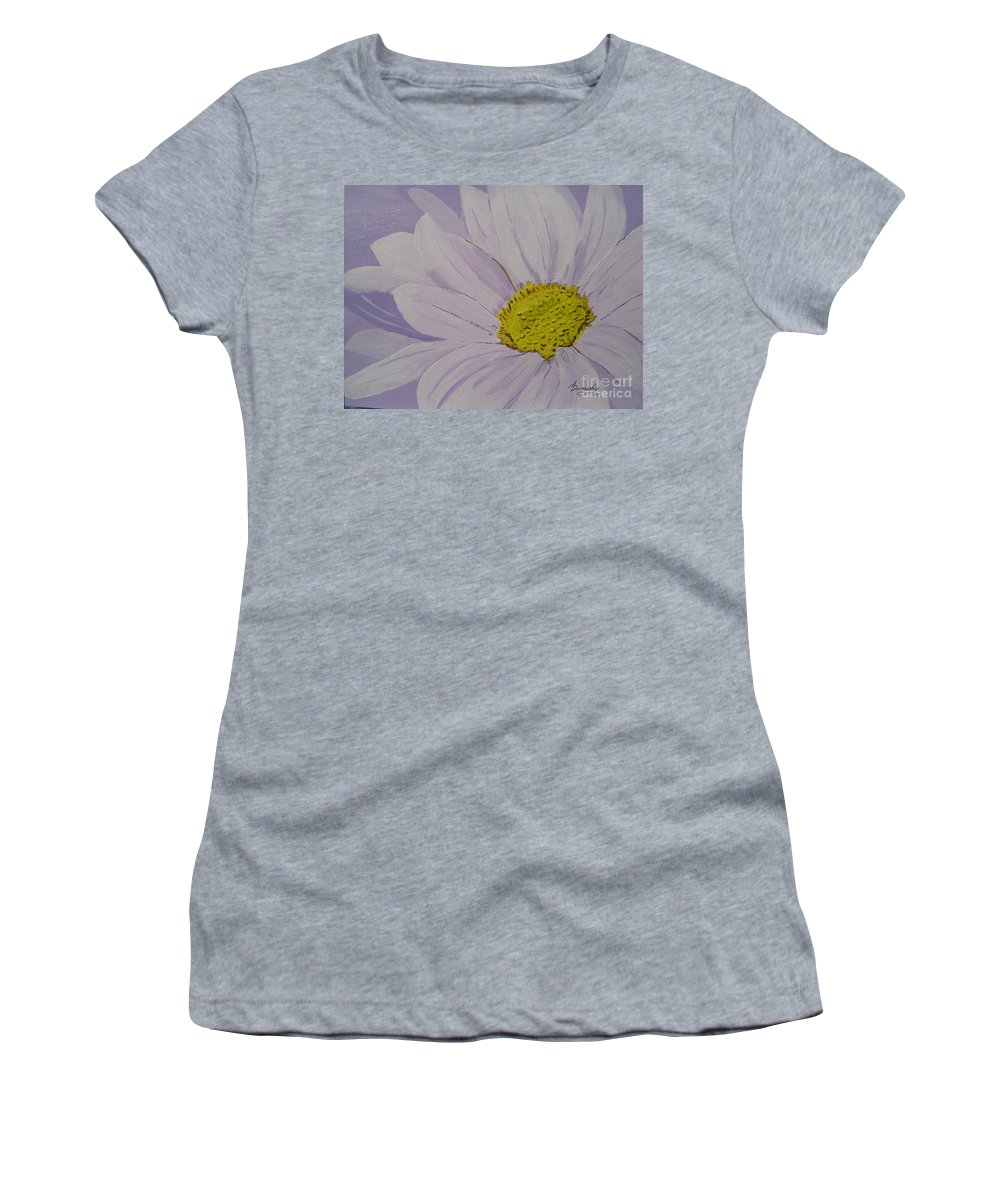 Daisy Women's T-Shirt (Athletic Fit) featuring the painting Daisy by Anthony Dunphy