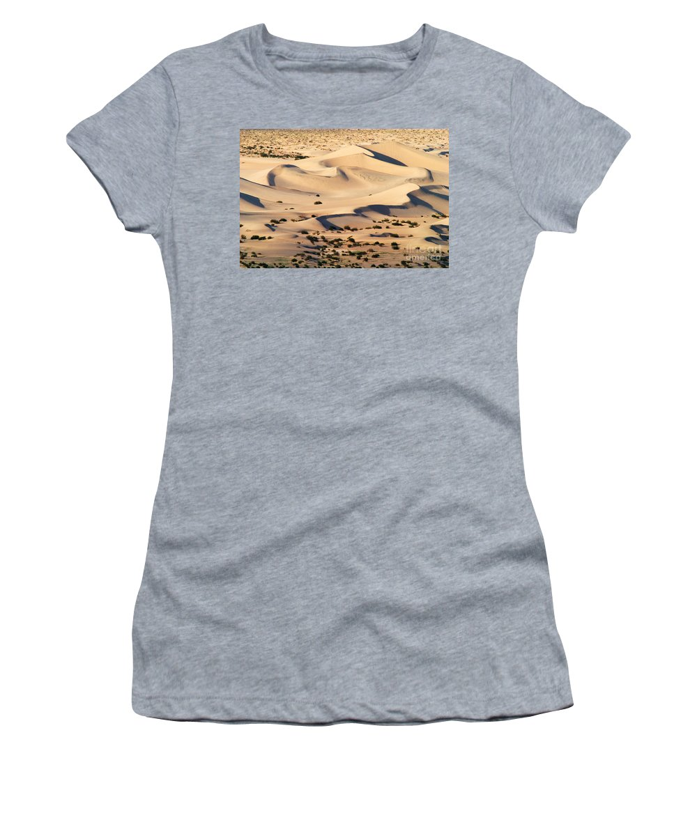 Barren Women's T-Shirt (Athletic Fit) featuring the photograph Death Valley by David Davis