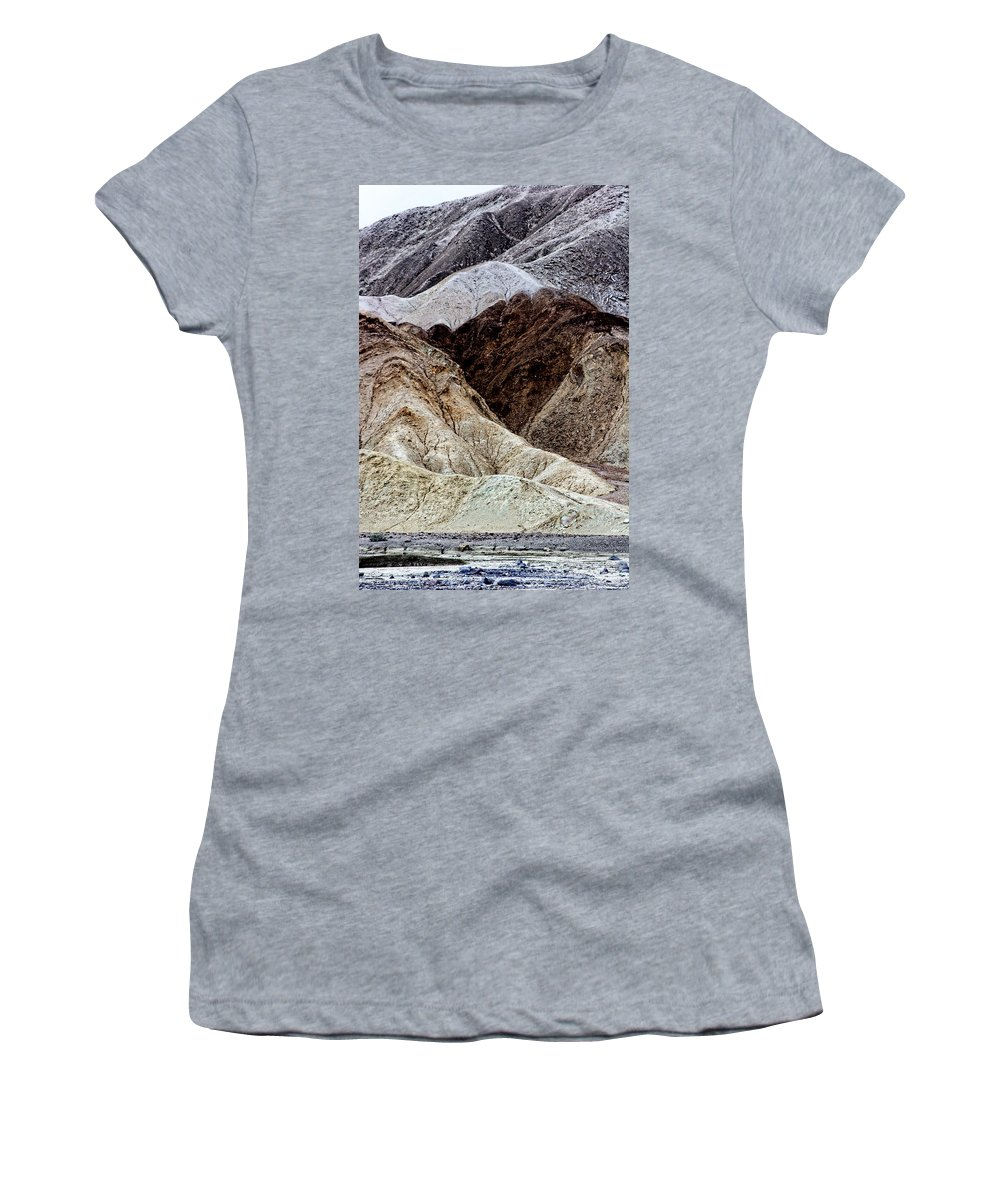 Death Valley Women's T-Shirt (Athletic Fit) featuring the photograph Death Valley Desert Rocks by Diana Hughes