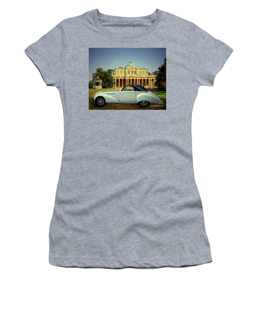 Oldtimer Women's T-Shirt featuring the photograph Delahaye 135-ms by Edmund Nagele