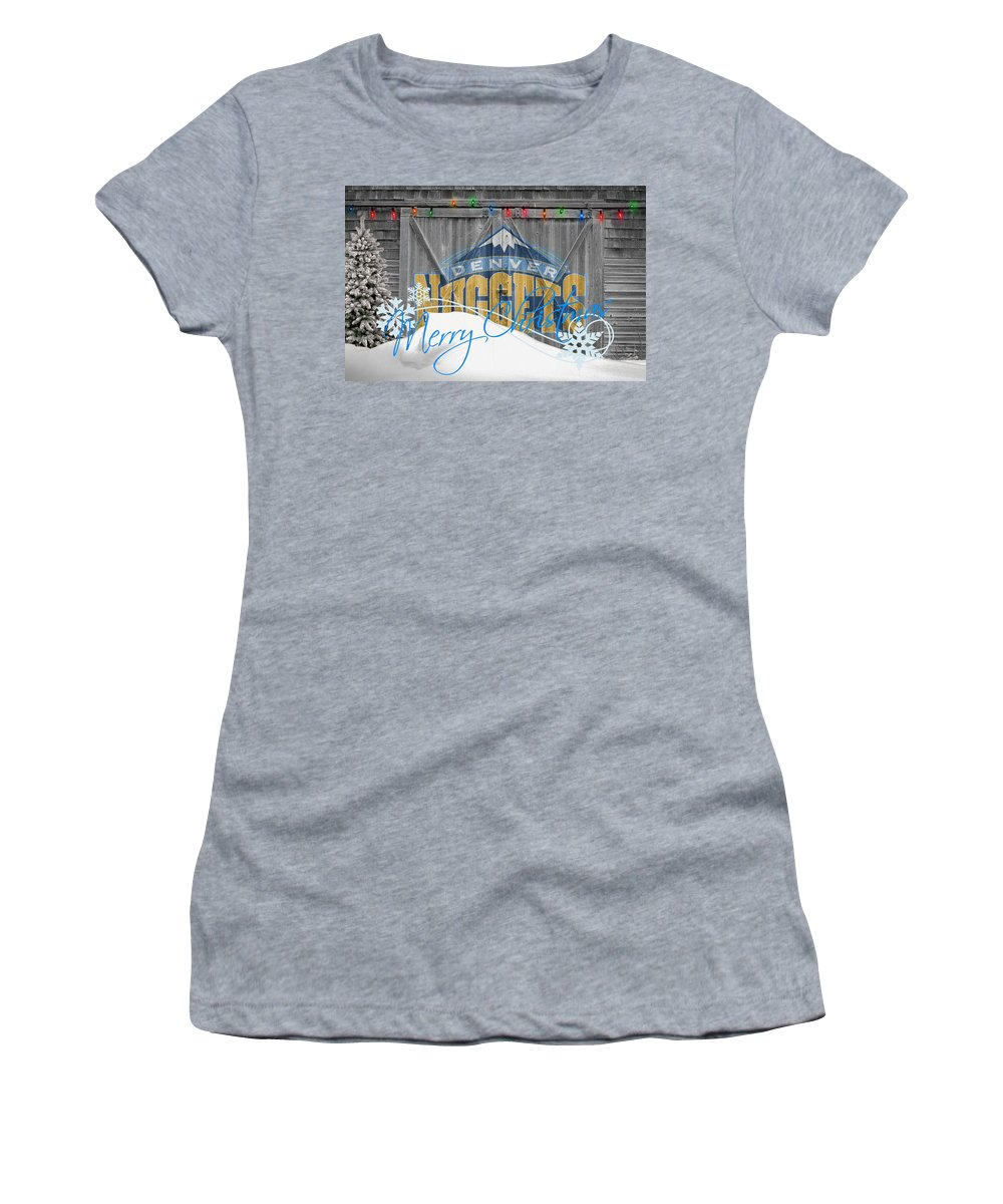 Nuggets Women's T-Shirt featuring the photograph Denver Nuggets by Joe Hamilton