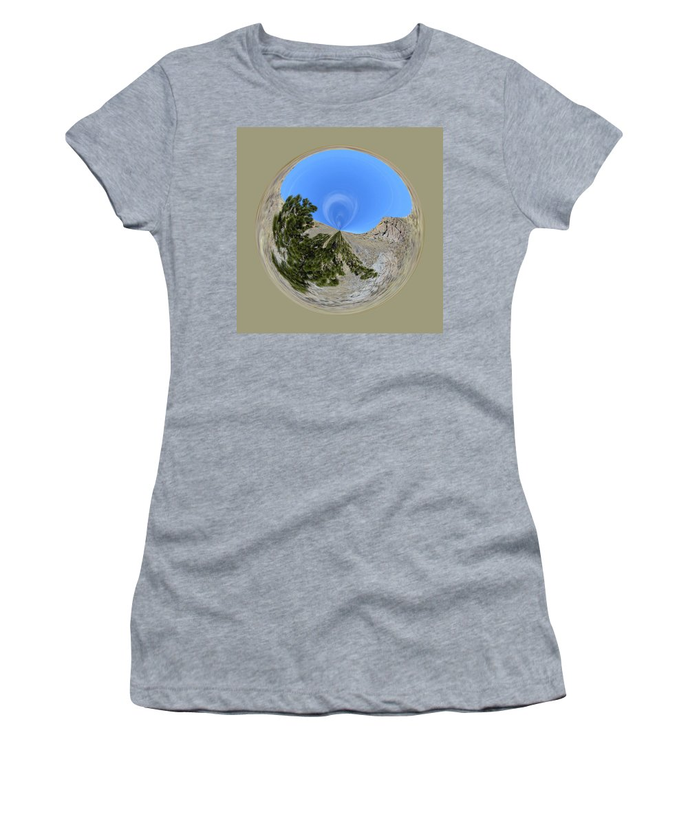 Orb Women's T-Shirt (Athletic Fit) featuring the photograph Desert Orb by Brent Dolliver