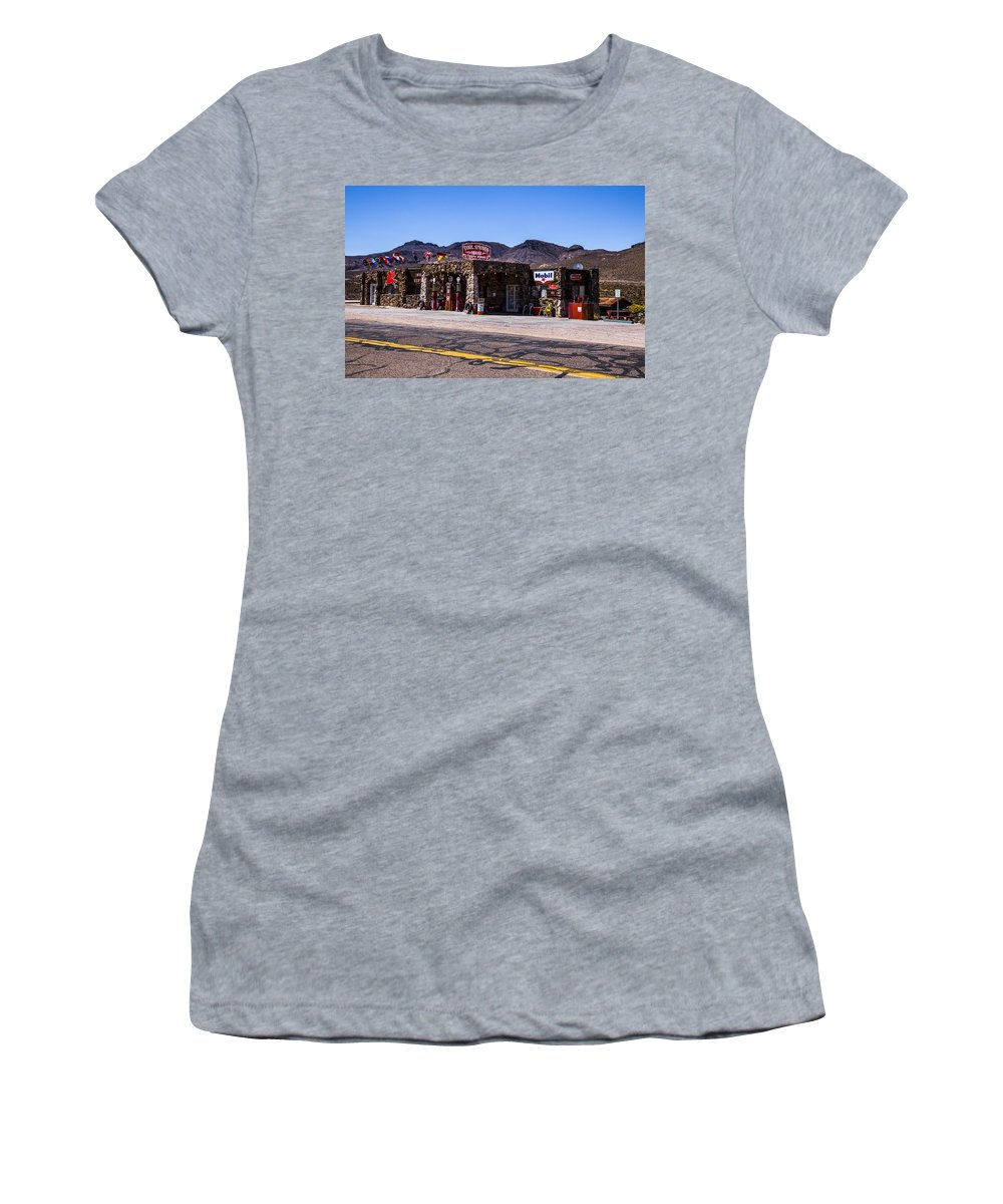 Route 66 Women's T-Shirt featuring the photograph Desert Station by Angus Hooper Iii