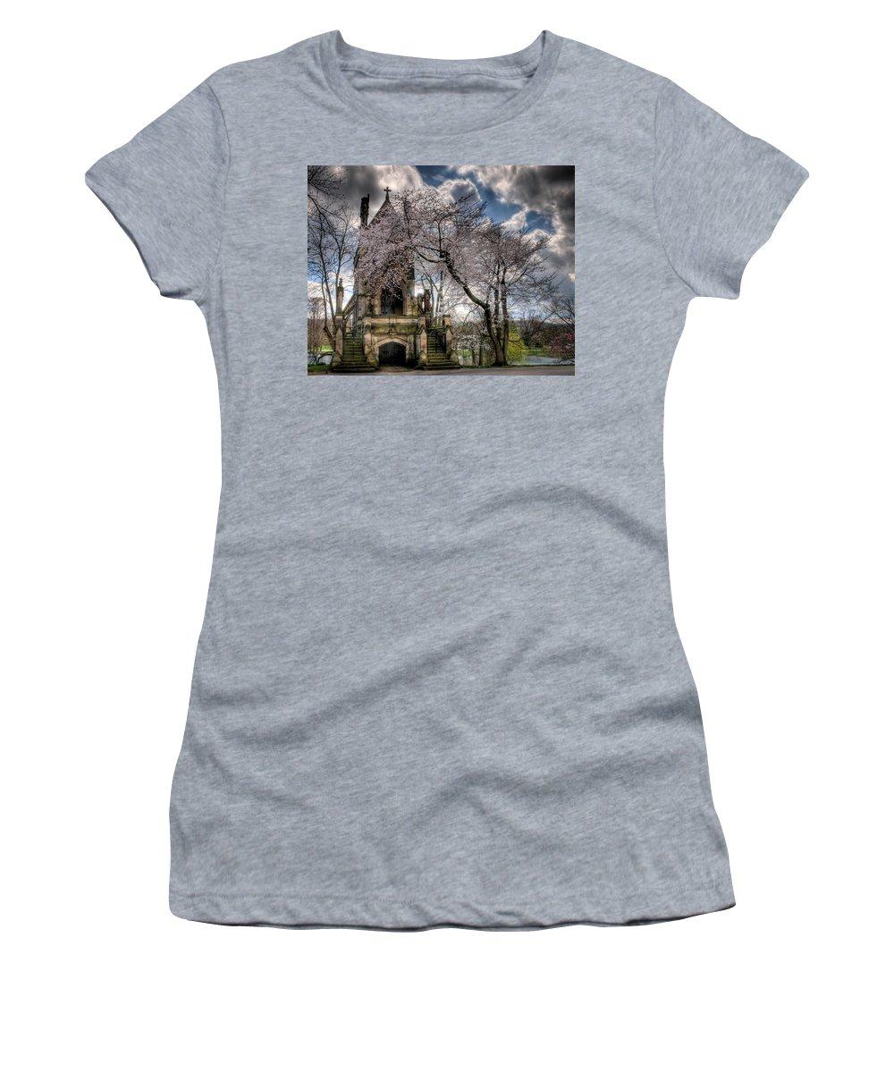 Dexter Mausoleum Women's T-Shirt (Athletic Fit) featuring the photograph Dexter Mausoleum by Sharon Meyer