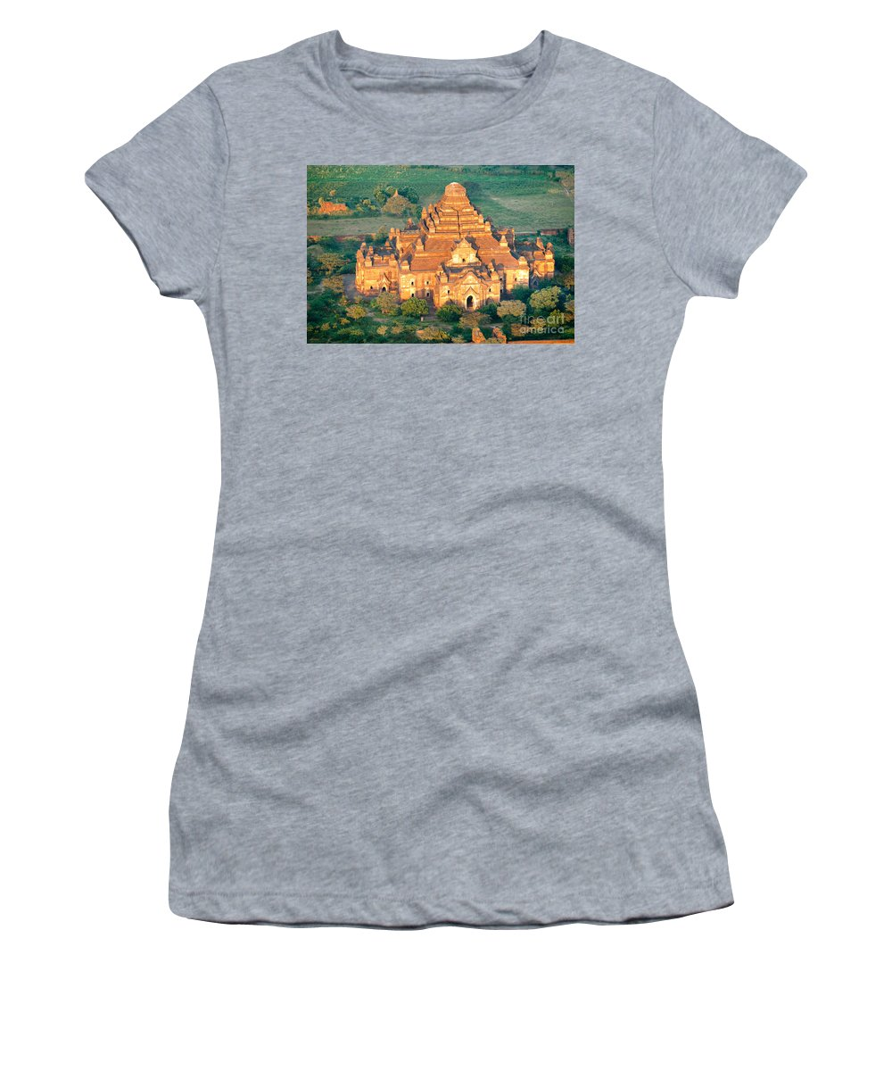 Air Women's T-Shirt (Athletic Fit) featuring the photograph Dhammayangyi Temple - Bagan by Luciano Mortula