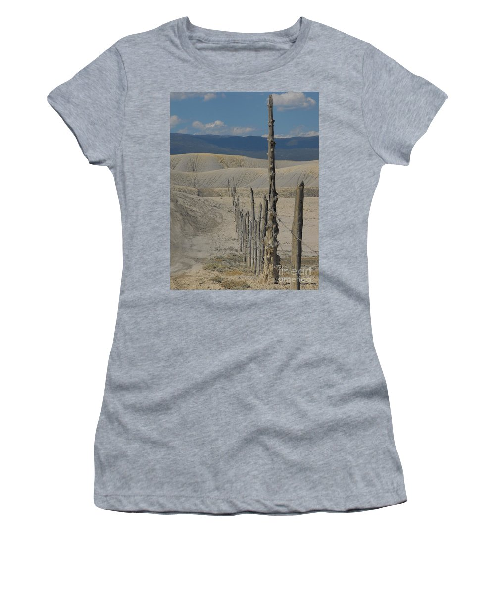Landscape Women's T-Shirt (Athletic Fit) featuring the photograph Dobies by Brandi Maher