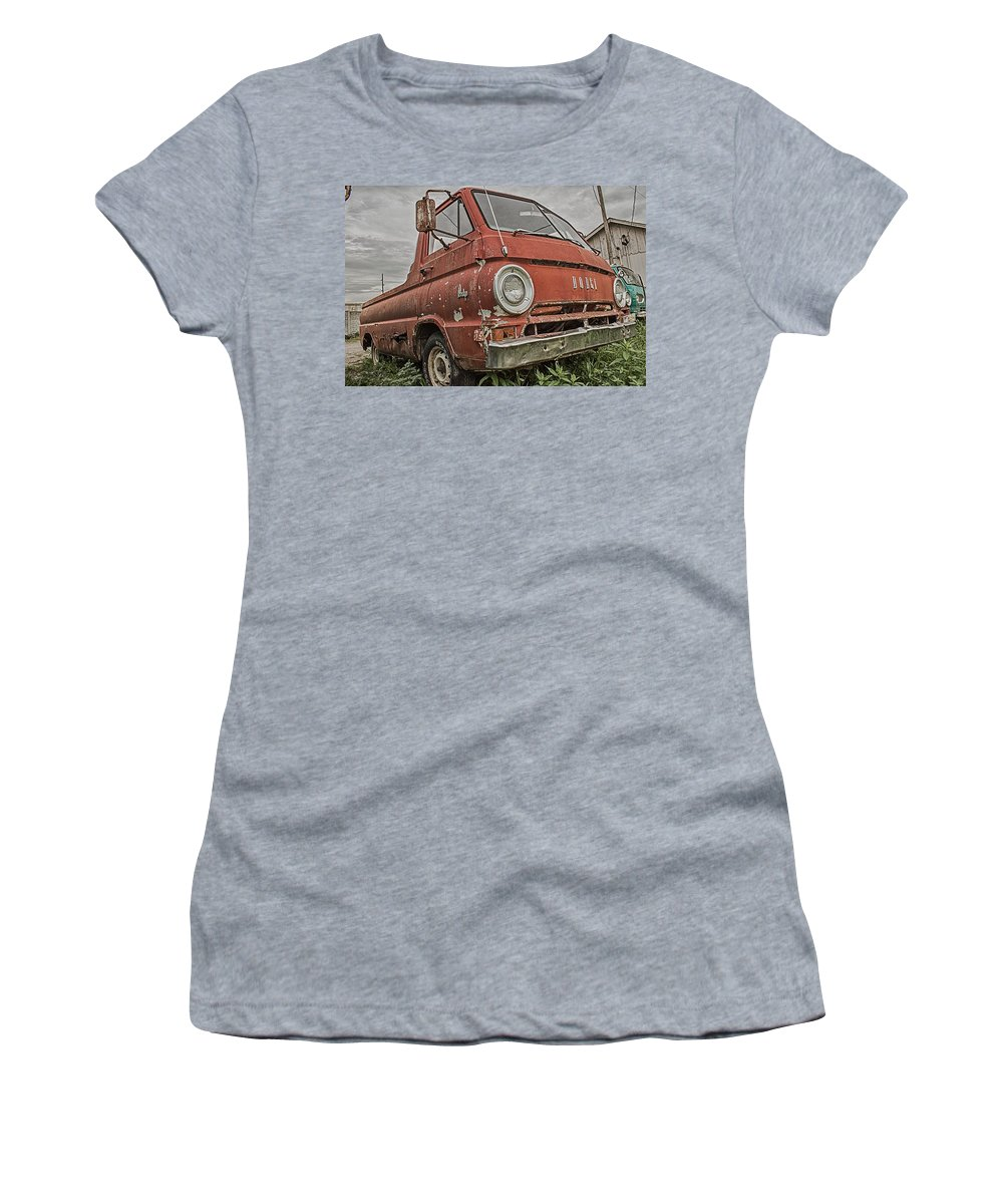 Truck Women's T-Shirt (Athletic Fit) featuring the photograph Dodge by Ken Kobe