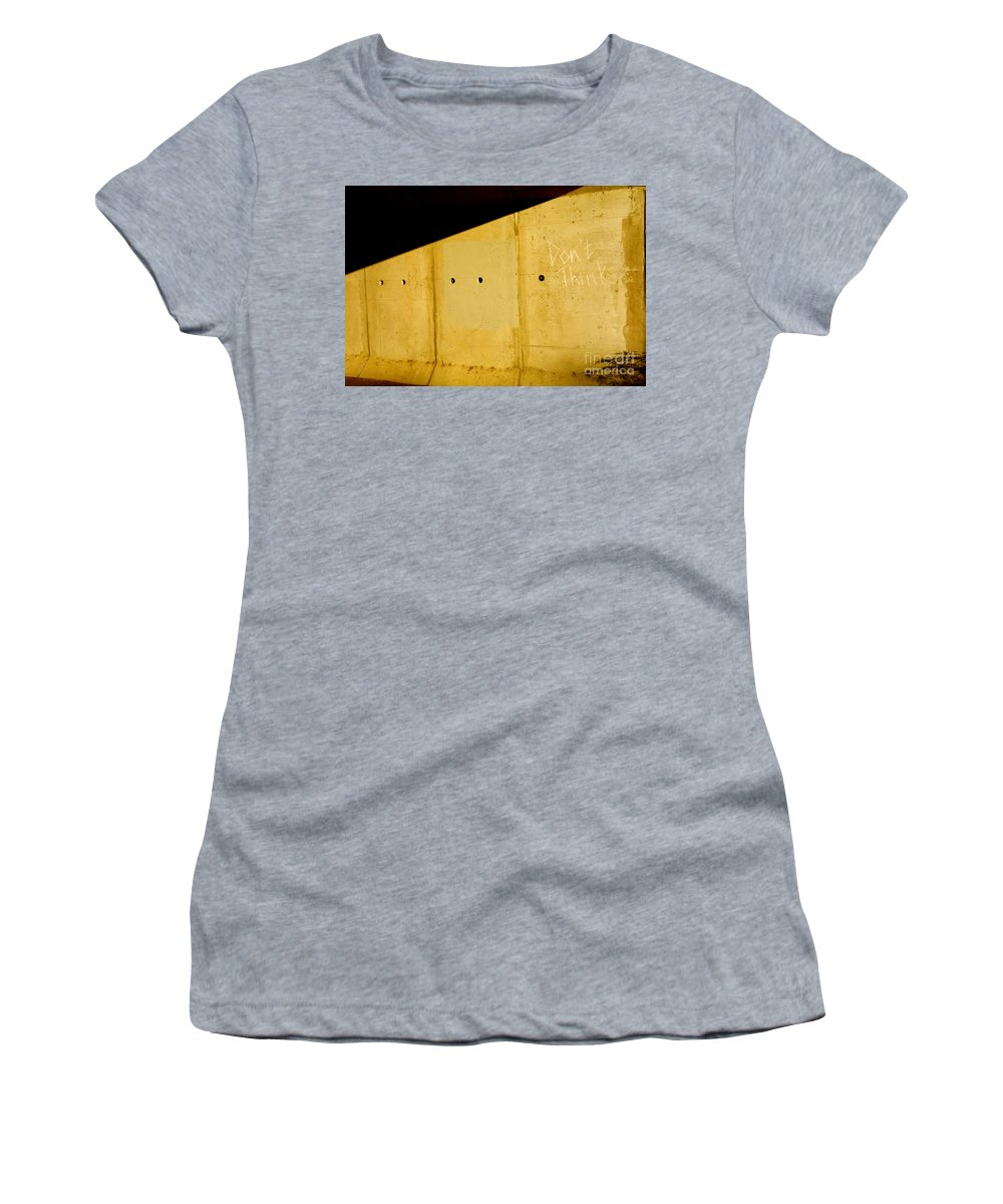 Urban Women's T-Shirt (Athletic Fit) featuring the photograph Don't Think by Jacqueline Athmann