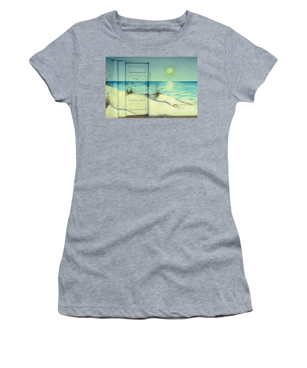 Architecture Women's T-Shirt (Athletic Fit) featuring the photograph Door Of Perception by Skip Hunt