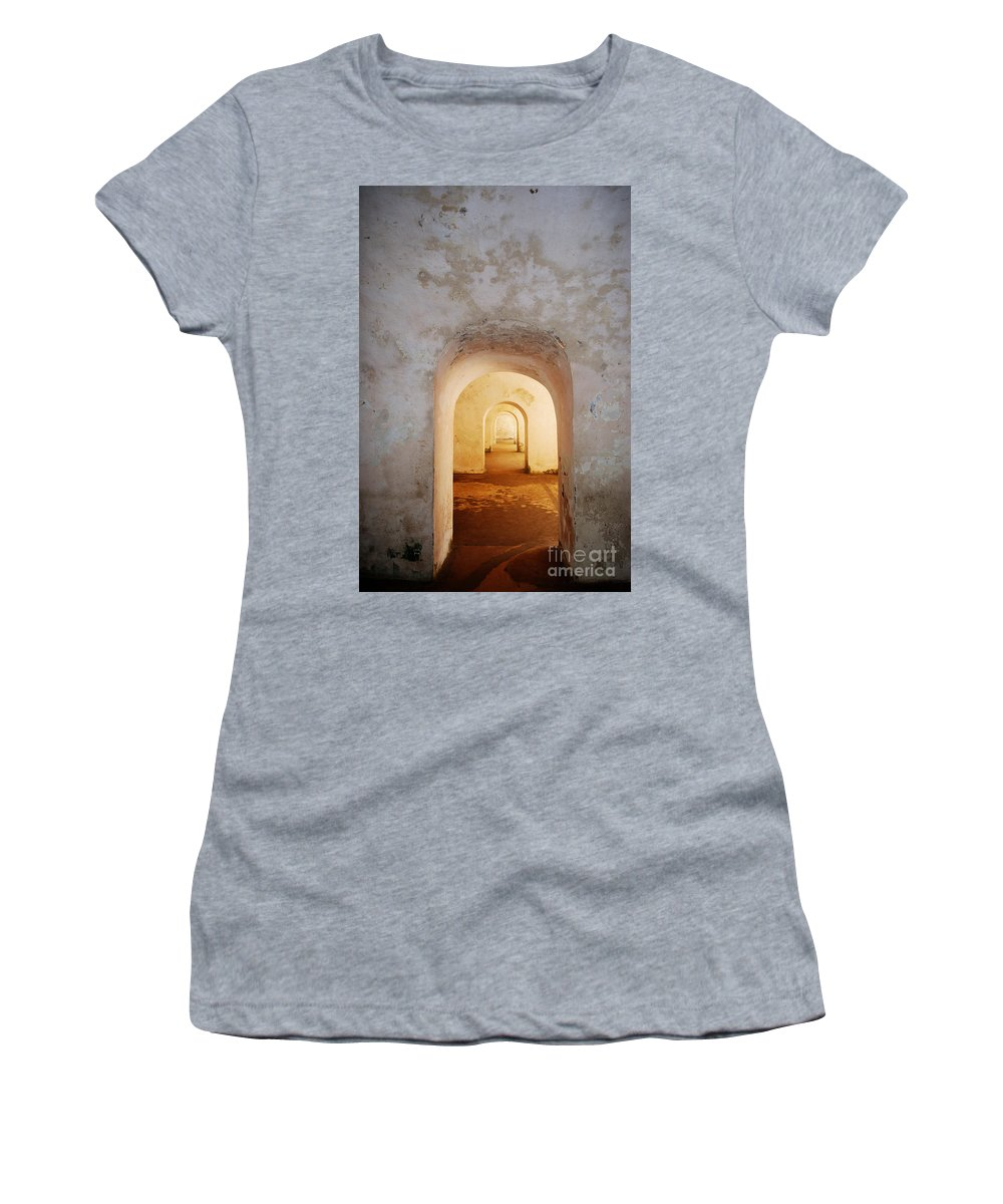 Doorways Women's T-Shirt featuring the photograph Doorways by DejaVu Designs