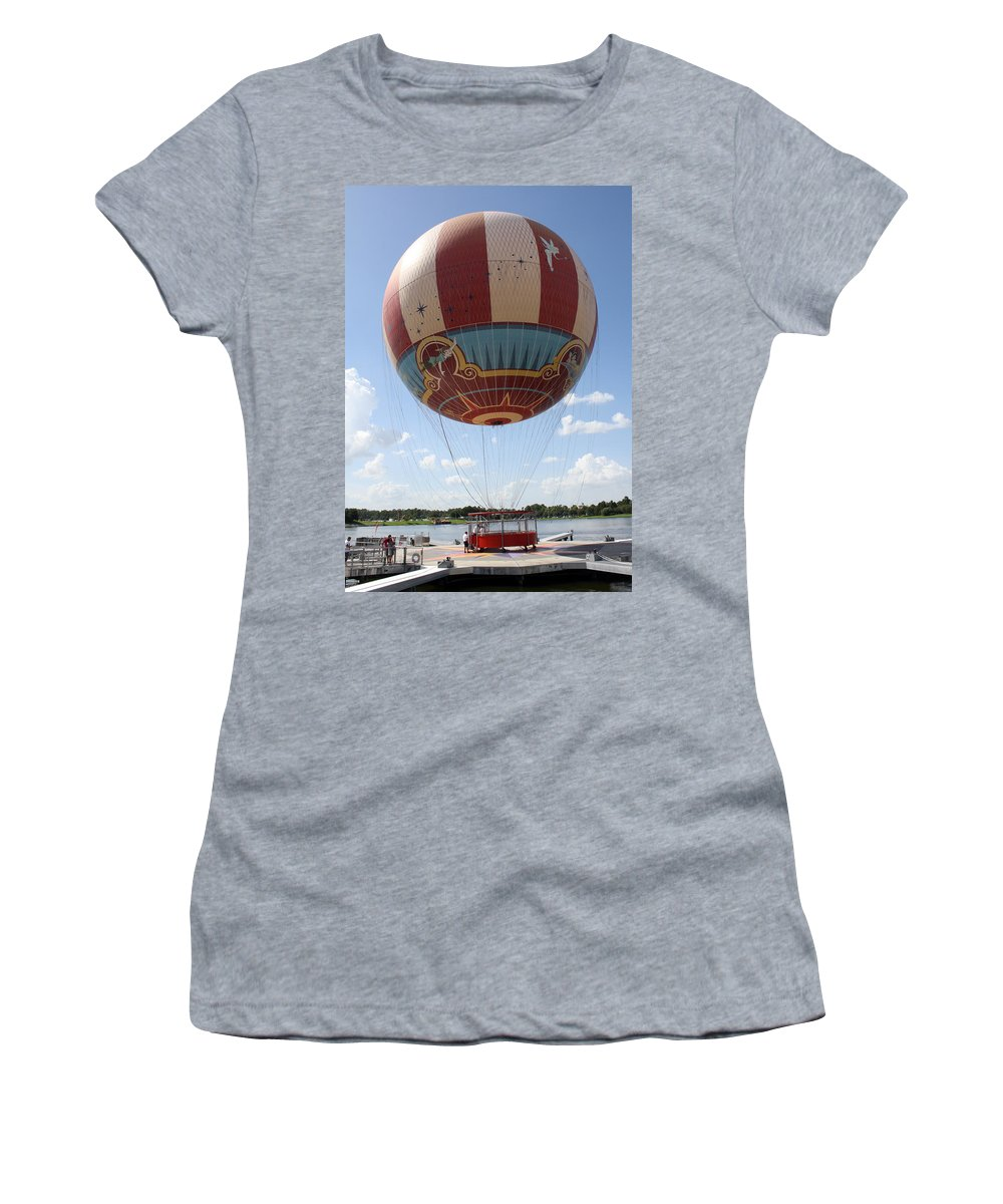 Disney World Women's T-Shirt (Athletic Fit) featuring the photograph Downtown Transport by David Nicholls