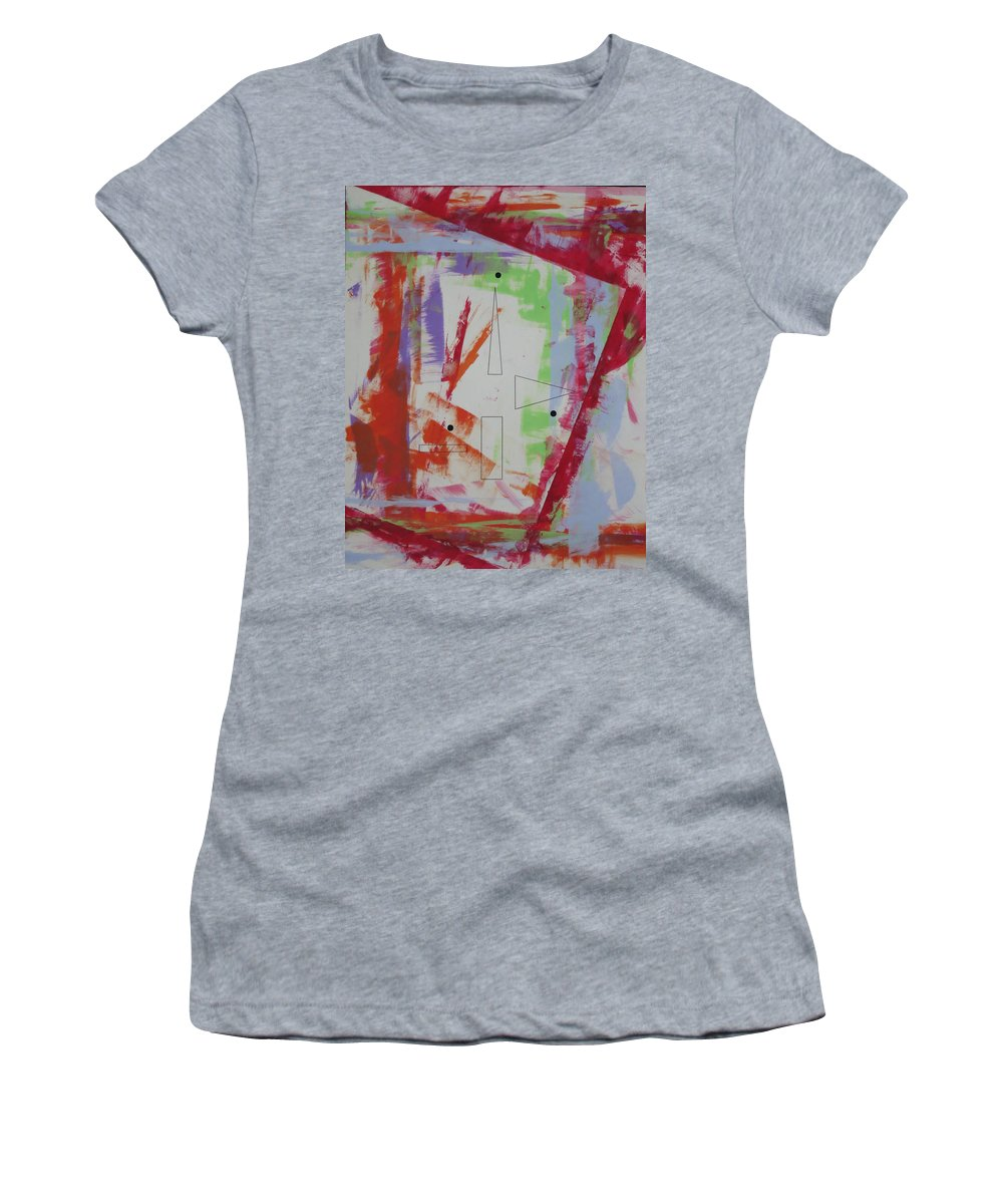 Symbolic Art Women's T-Shirt featuring the painting Dream69113 by Elle Nicolai