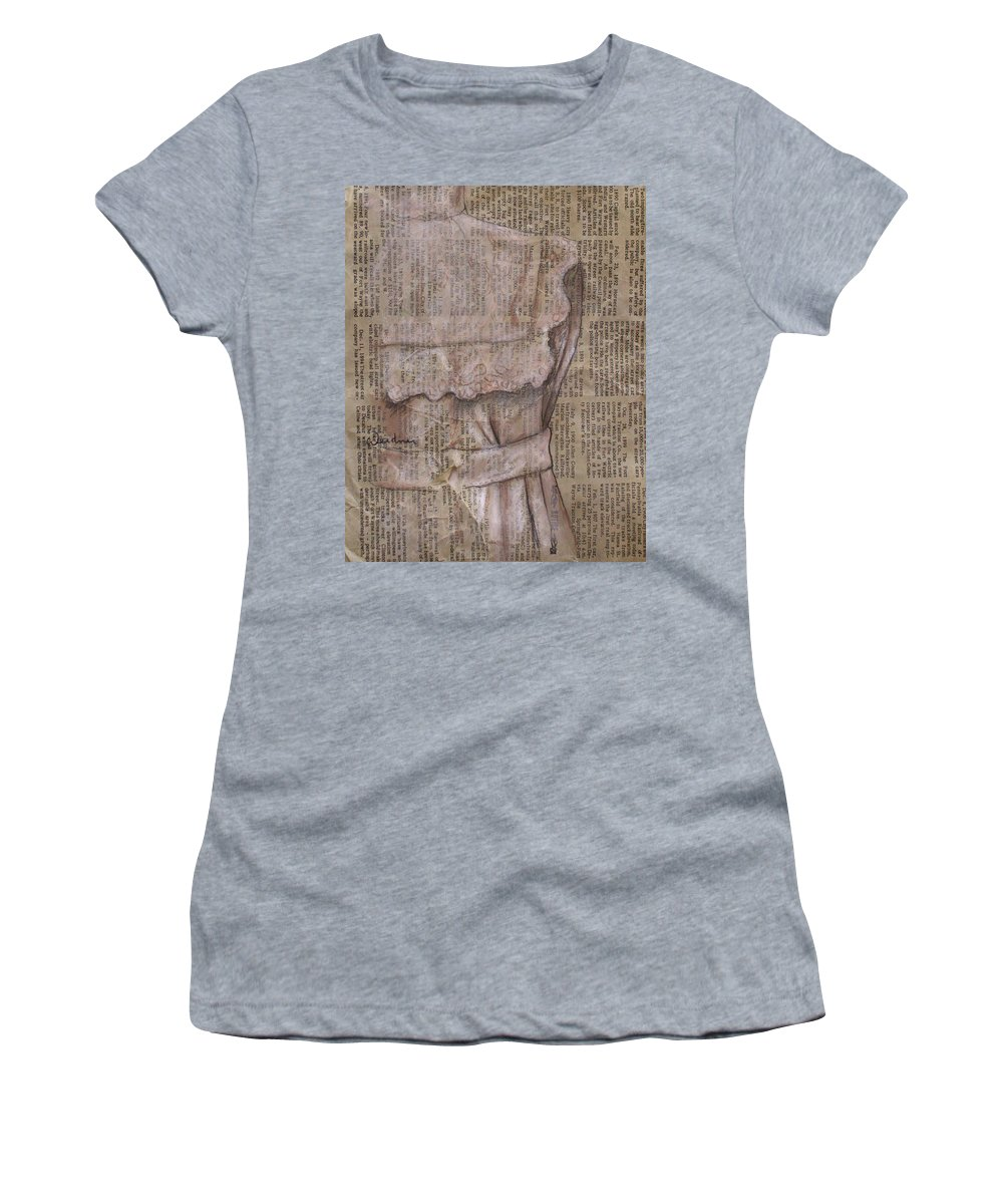 Still Life Women's T-Shirt featuring the drawing Dress by Kathy Weidner